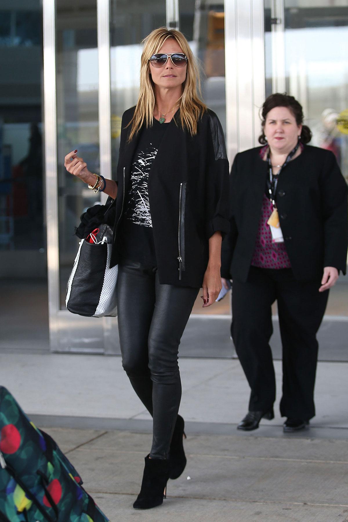 Heidi Klum return to New York