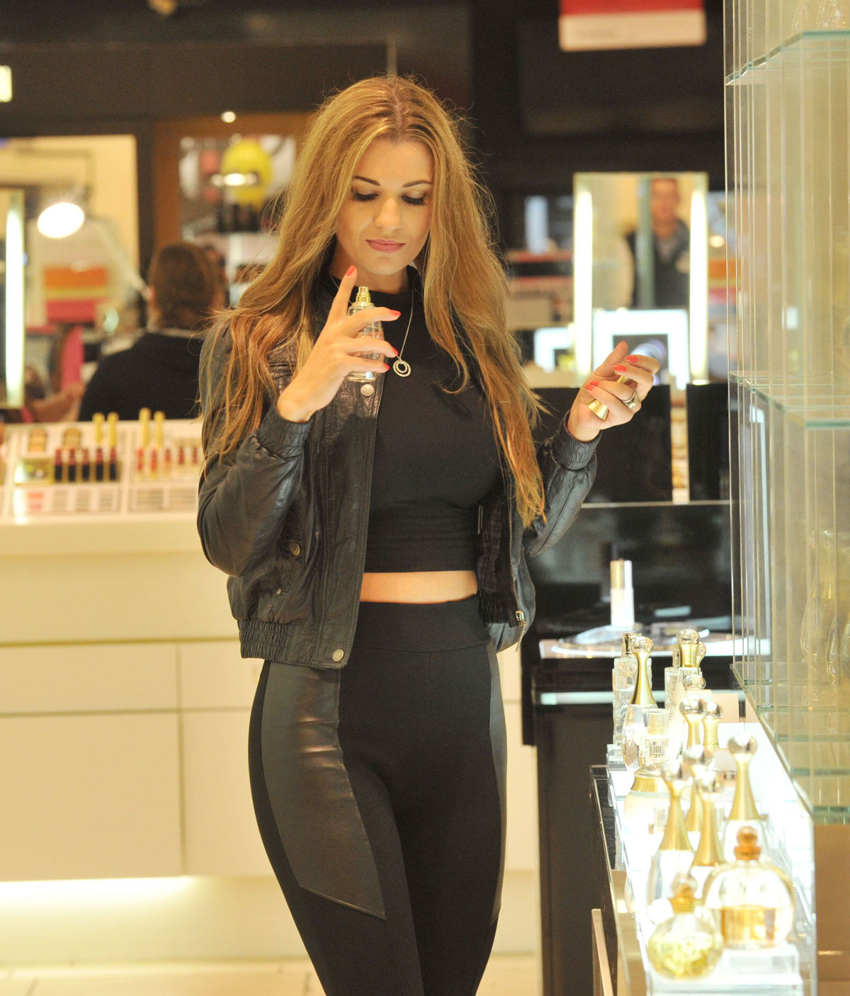 Christine Martin shopping candids Manchester