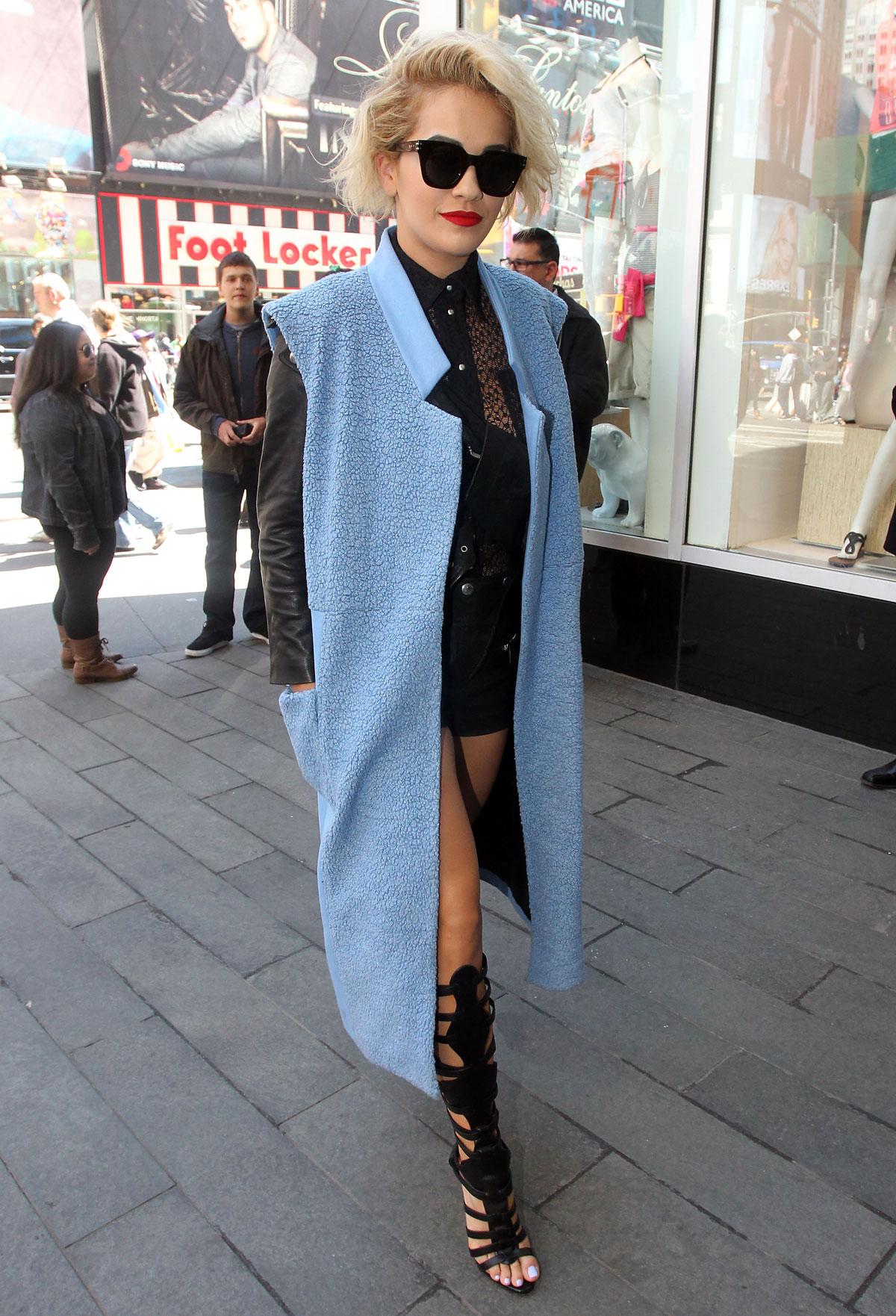 Rita Ora arrives at MTV studio