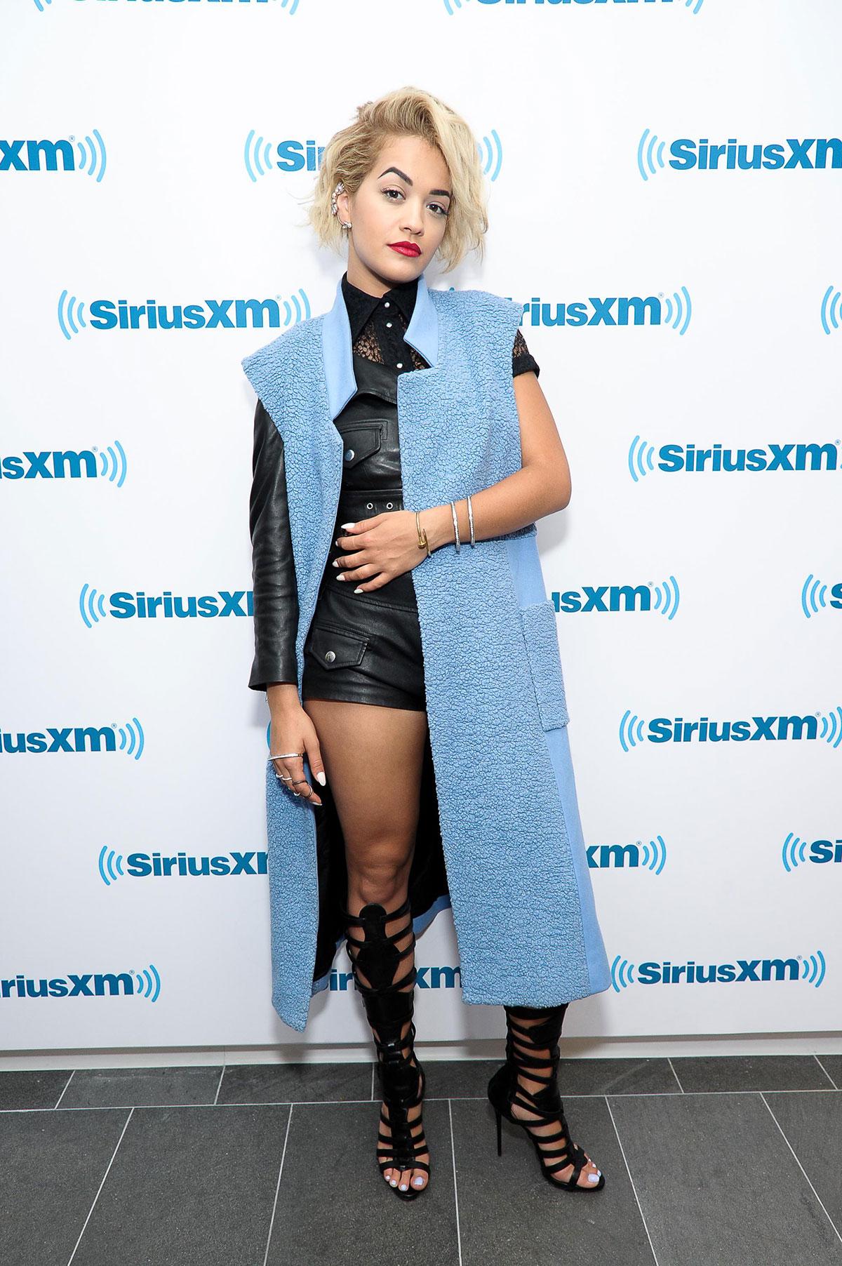 Rita Ora visits at SiriusXM Studios