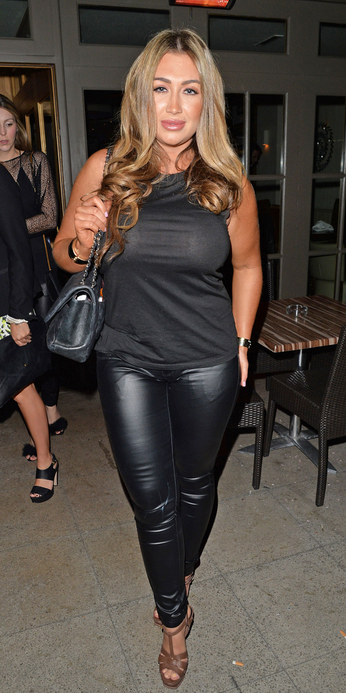 Lauren Goodger arrives for a night out at The Olive Tree