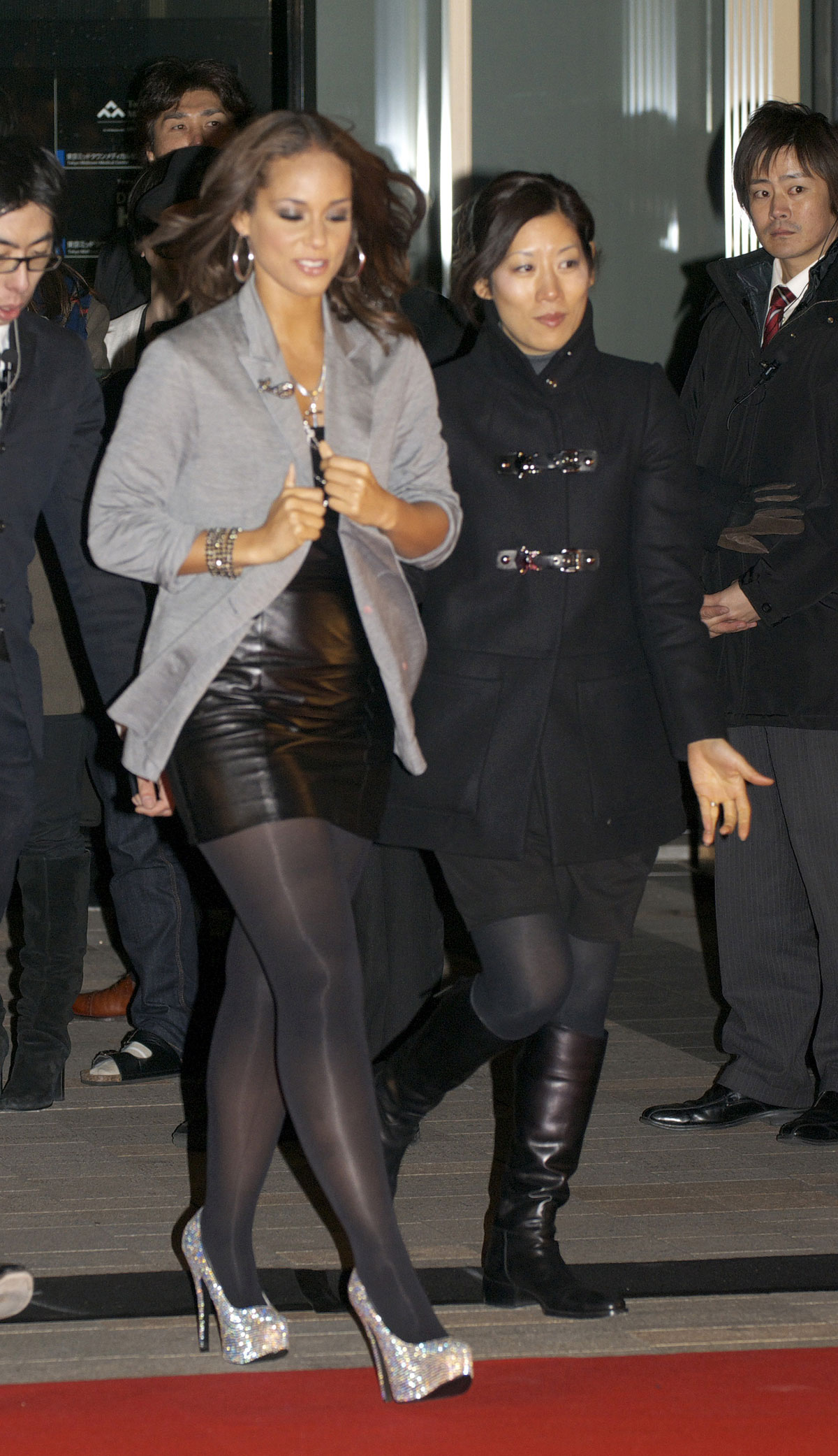 Alicia Keys at album promotion of The Element of Freedom