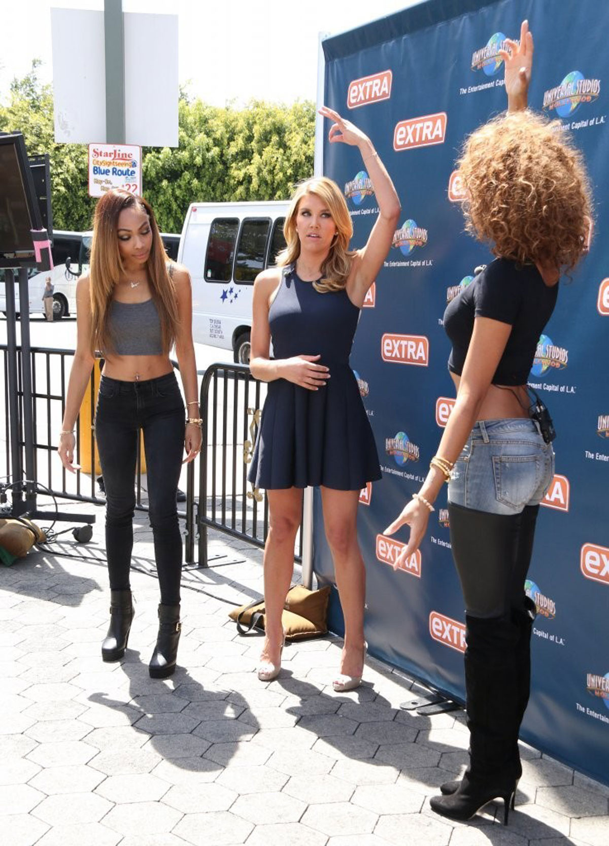 Bria Murphy at Universal Studios to do an interview for the show EXTRA