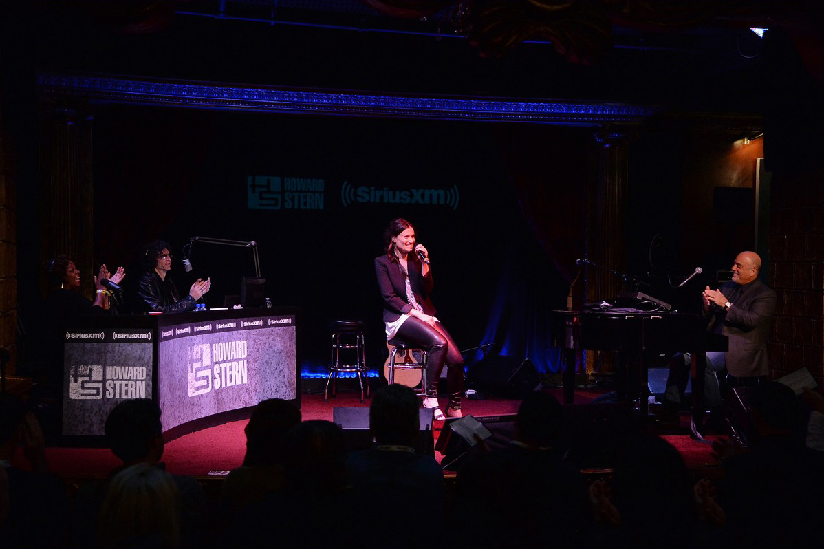 Idina Menzel performs on stage during SiriusXM's Town Hall
