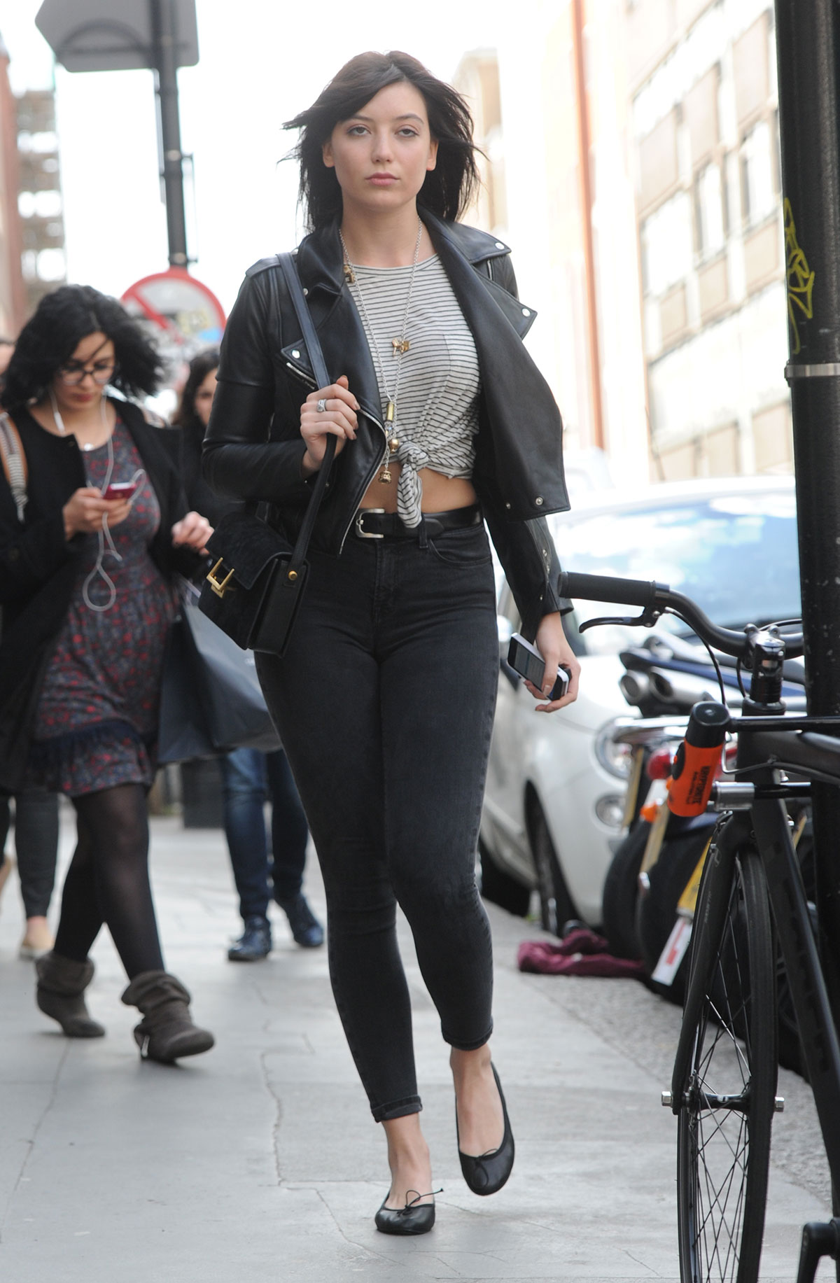 Daisy Lowe out and about in London