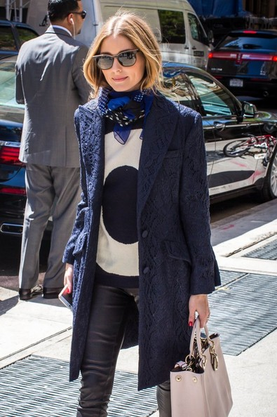 Olivia Palermo spotted outside the Mark Hotel