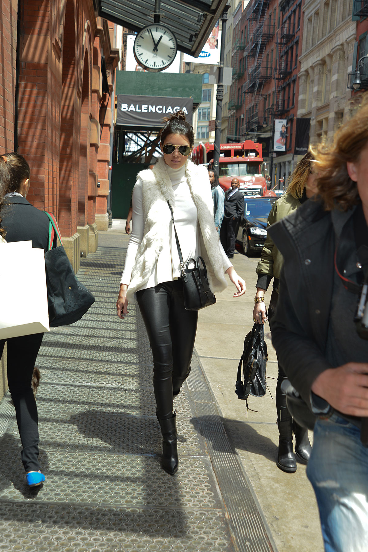 Kendall Jenner keeps it fierce in leather pants while heading to Mercer Hotel