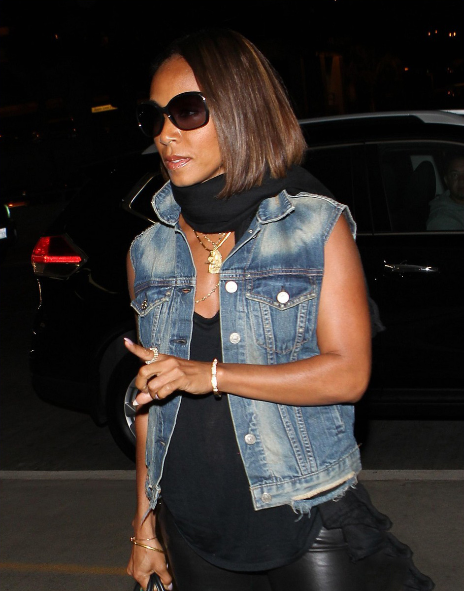 Jada Pinkett Smith arrives at LAX Airport