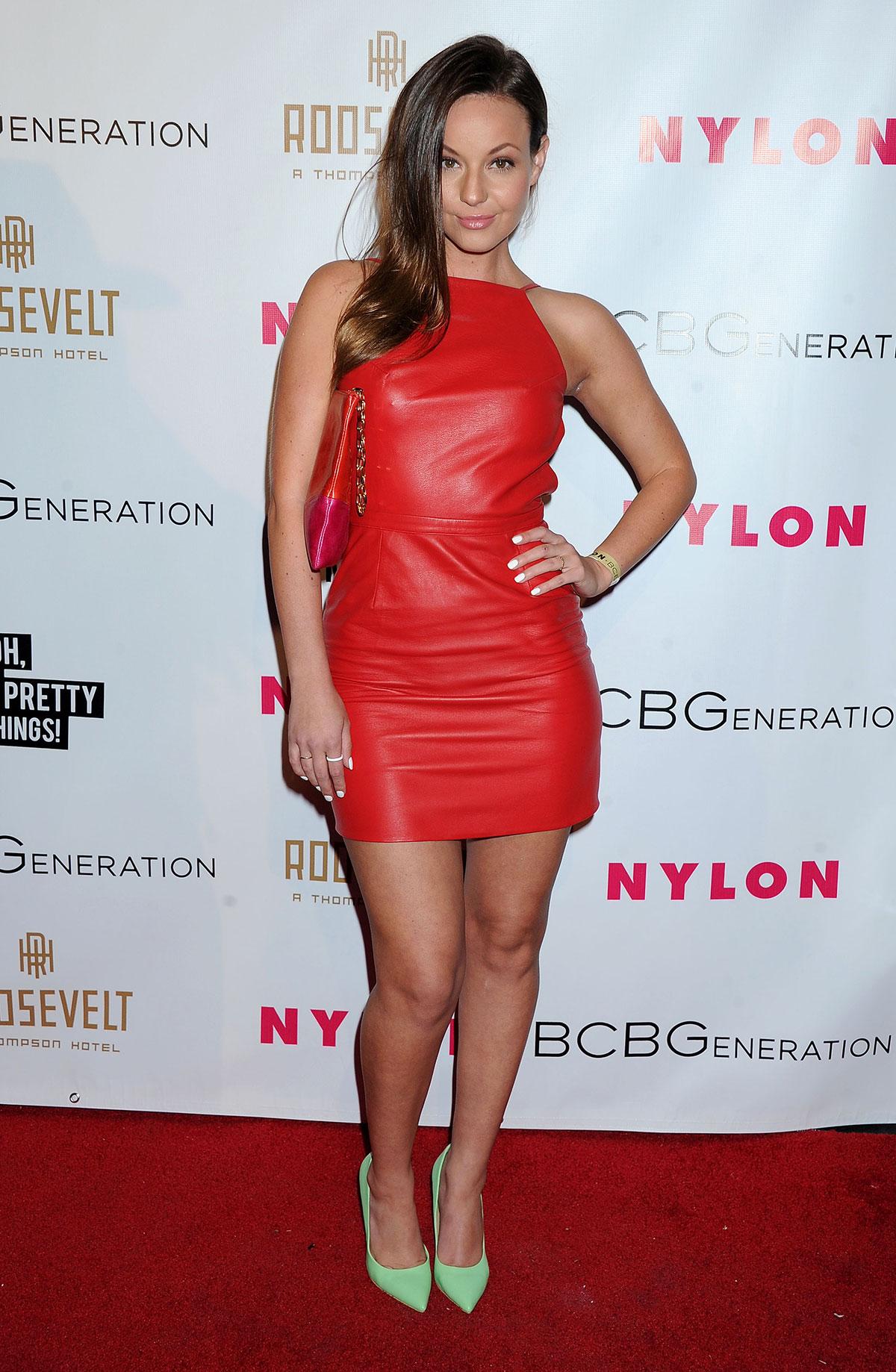 Samantha Droke at the Nylon magazine Young Hollywood Party