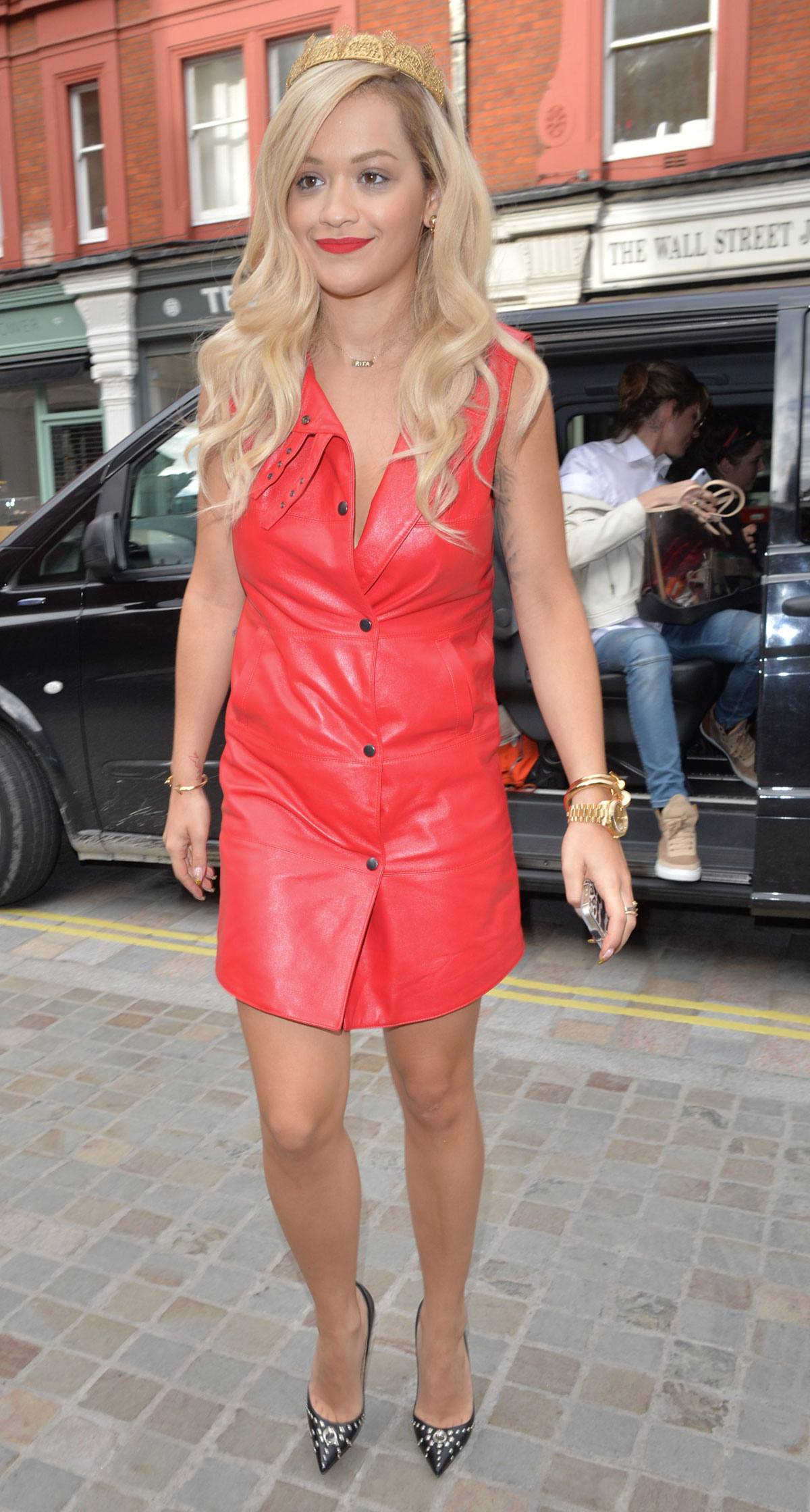 Rita Ora at Capital FM studios