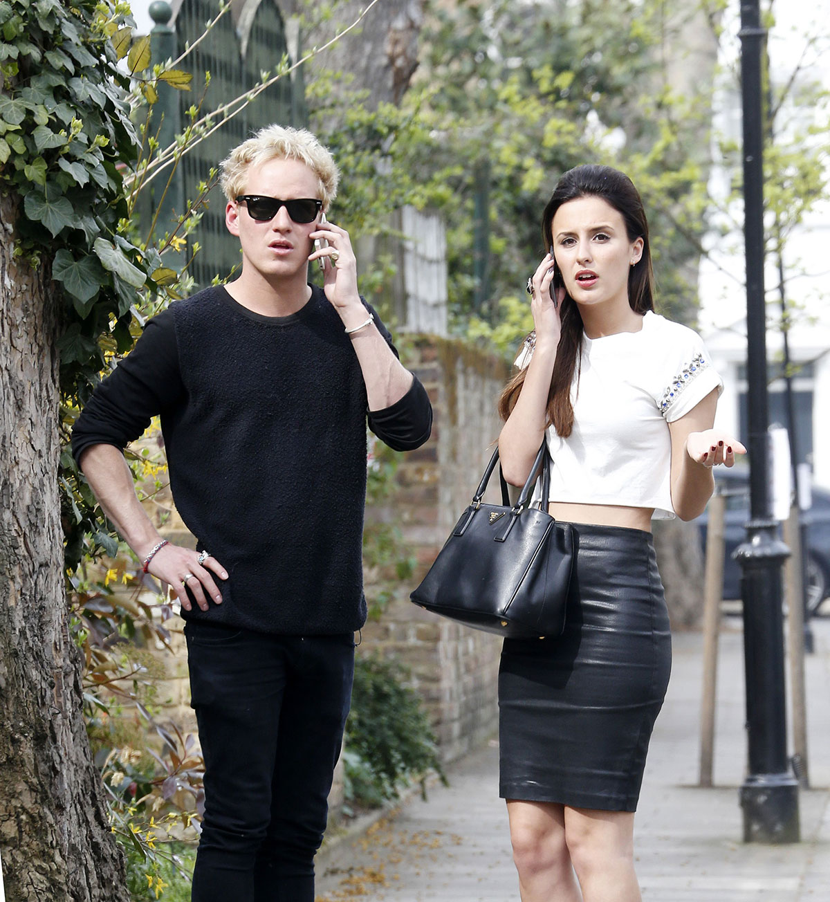 Lucy Watson filming Made In Chelsea