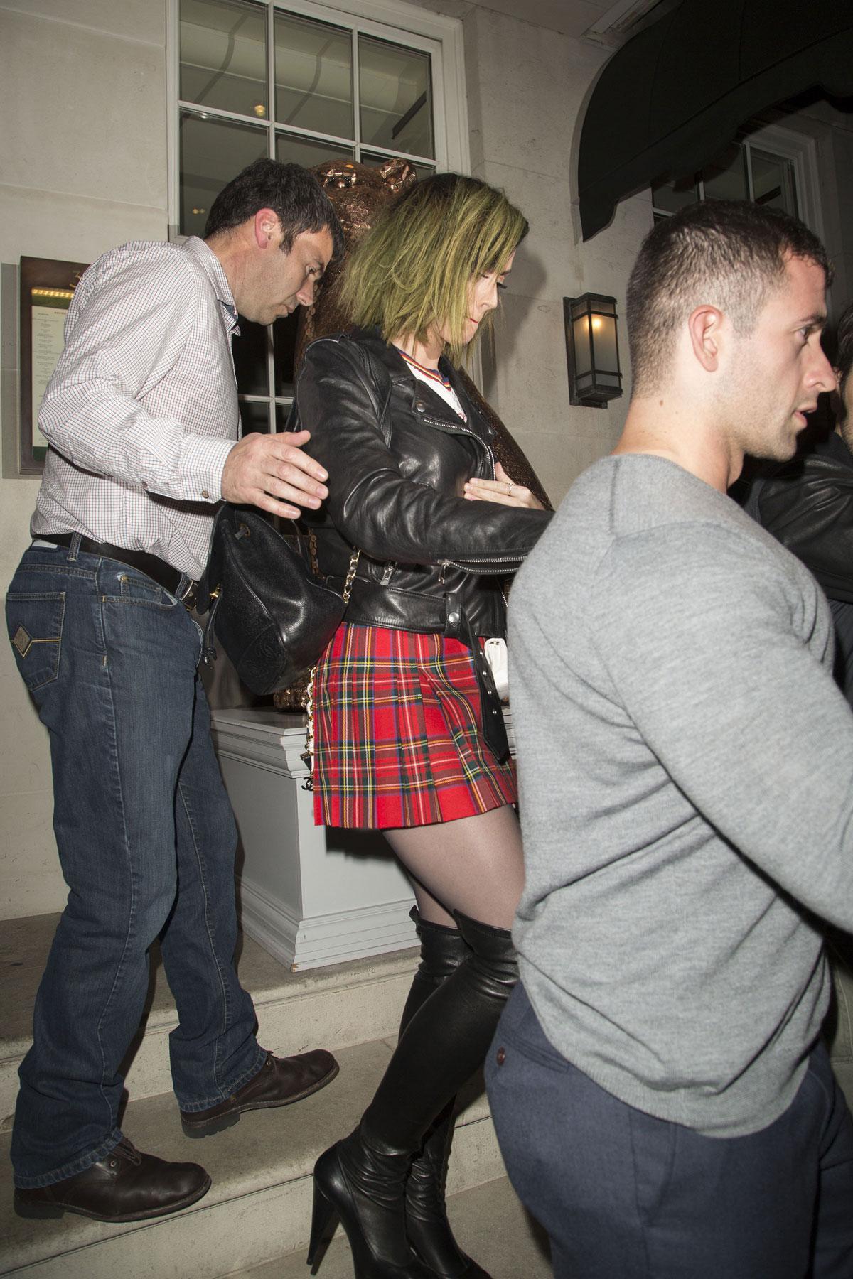 Katy Perry leaving 34 restaurant in Mayfair