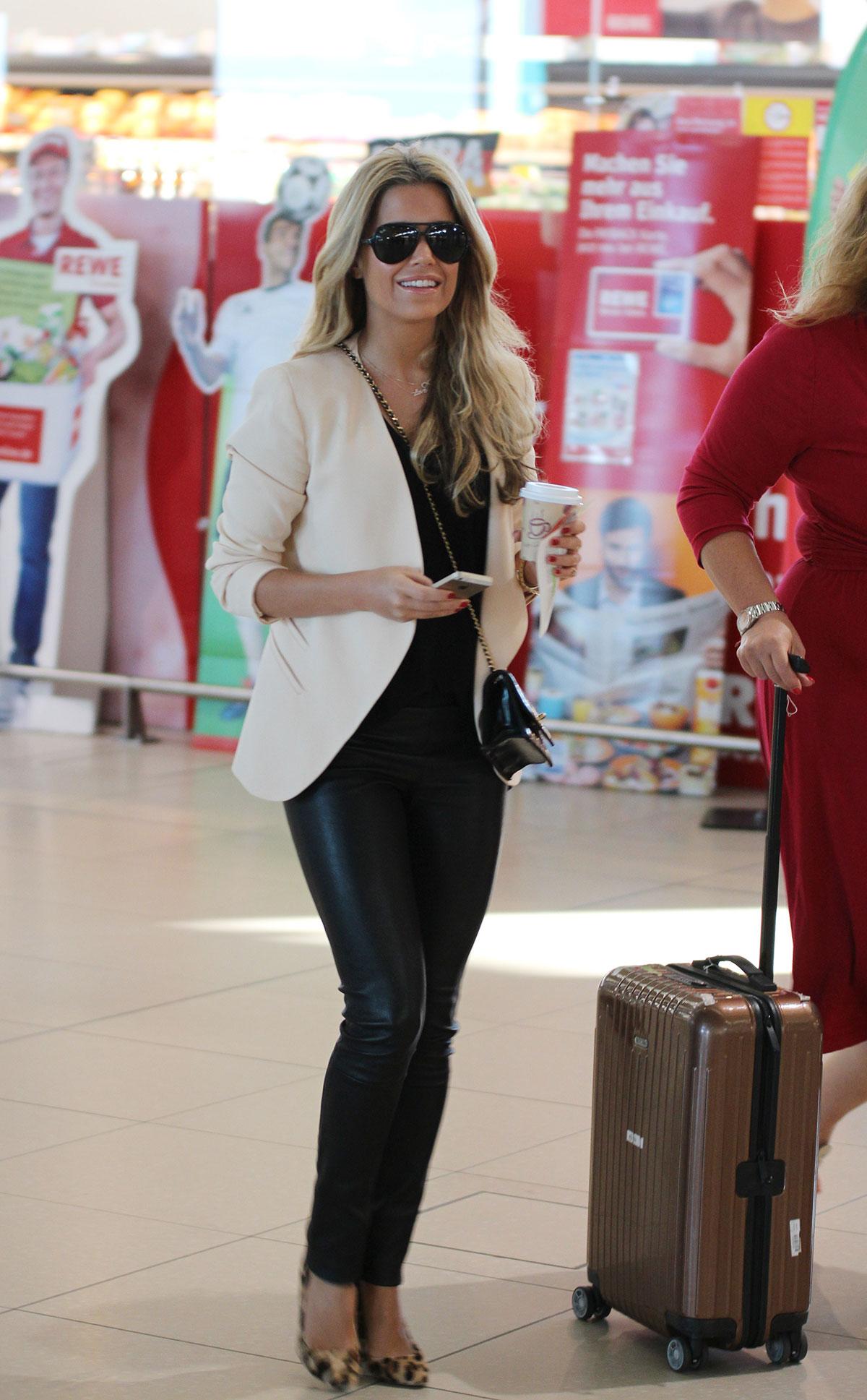Sylvie Meis at airport in Koln