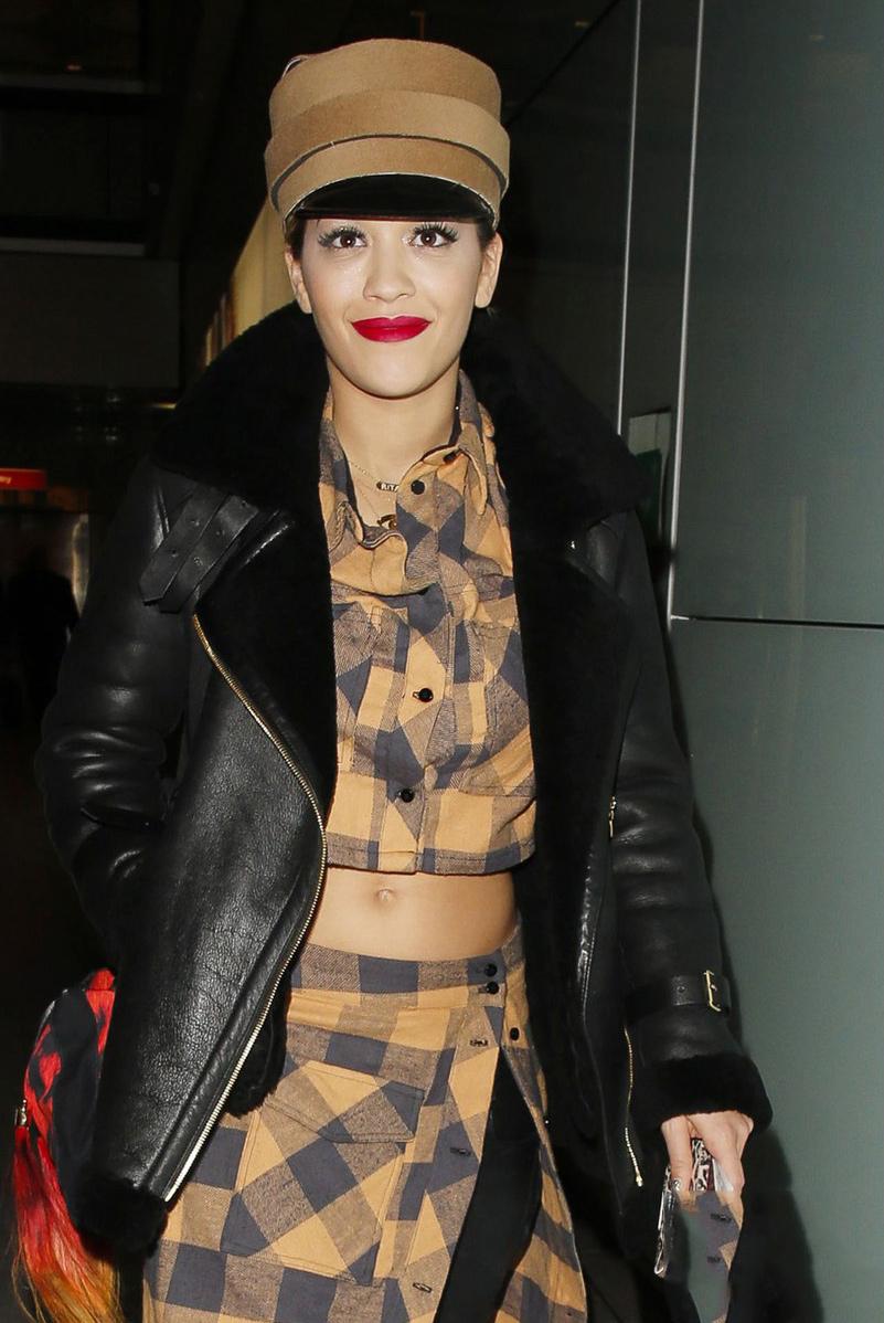 Rita Ora arrived back in London from Radio 1's Big Weekend
