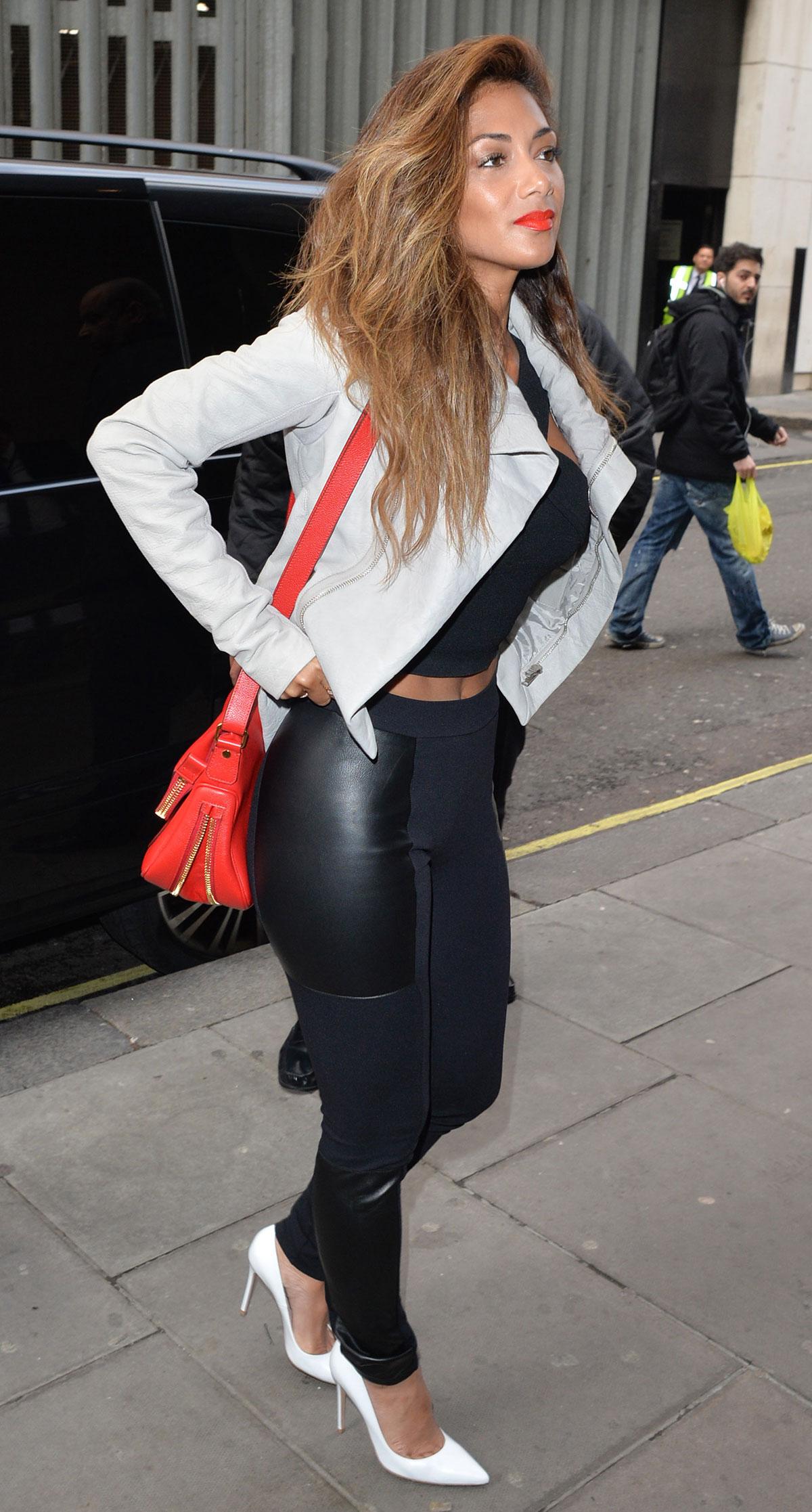 Nicole Scherzinger at KISS FM Radio Station
