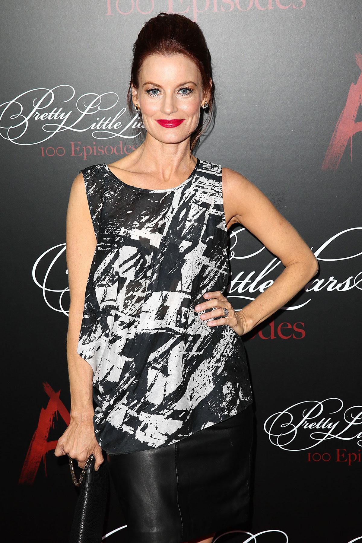 Laura Leighton attends Pretty Little Liars 100th episode celebration
