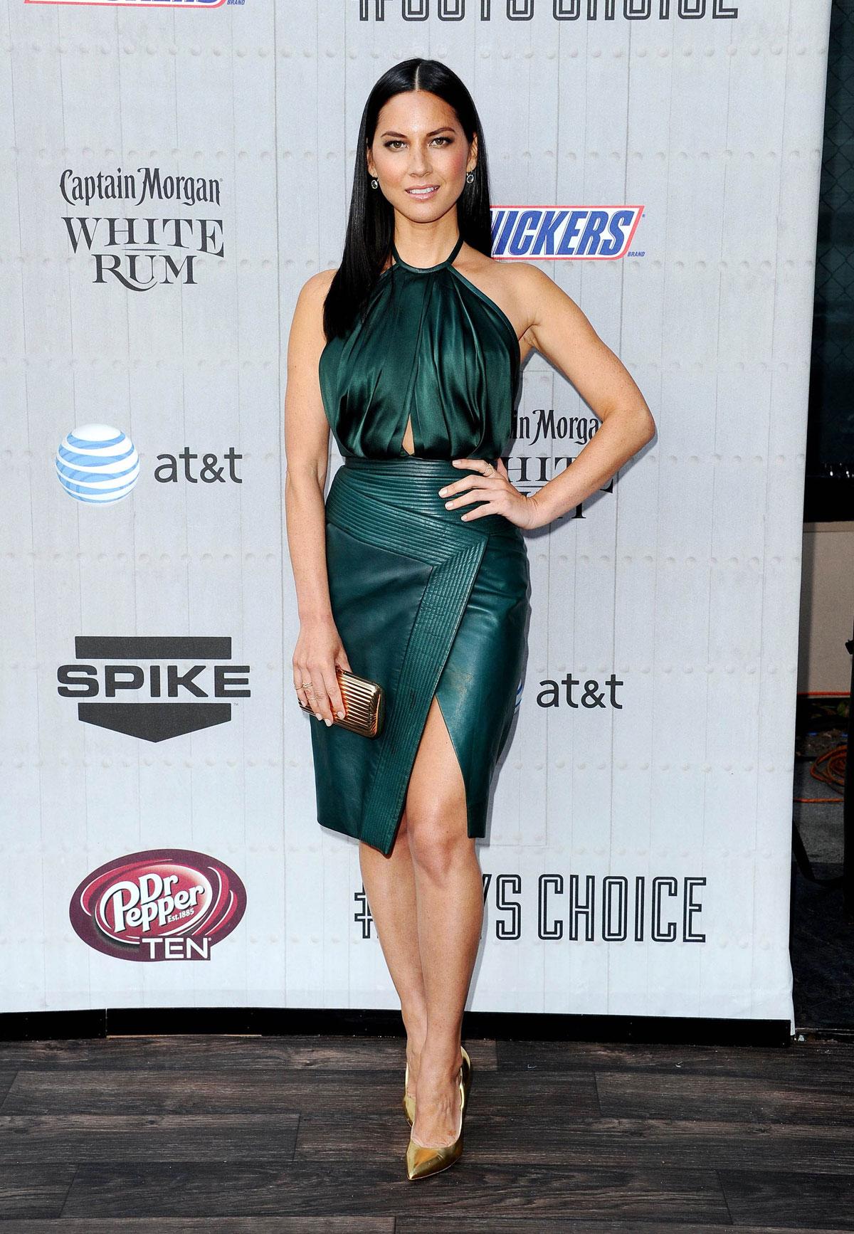 Olivia Munn attends Spike TV Guys Choice 2014