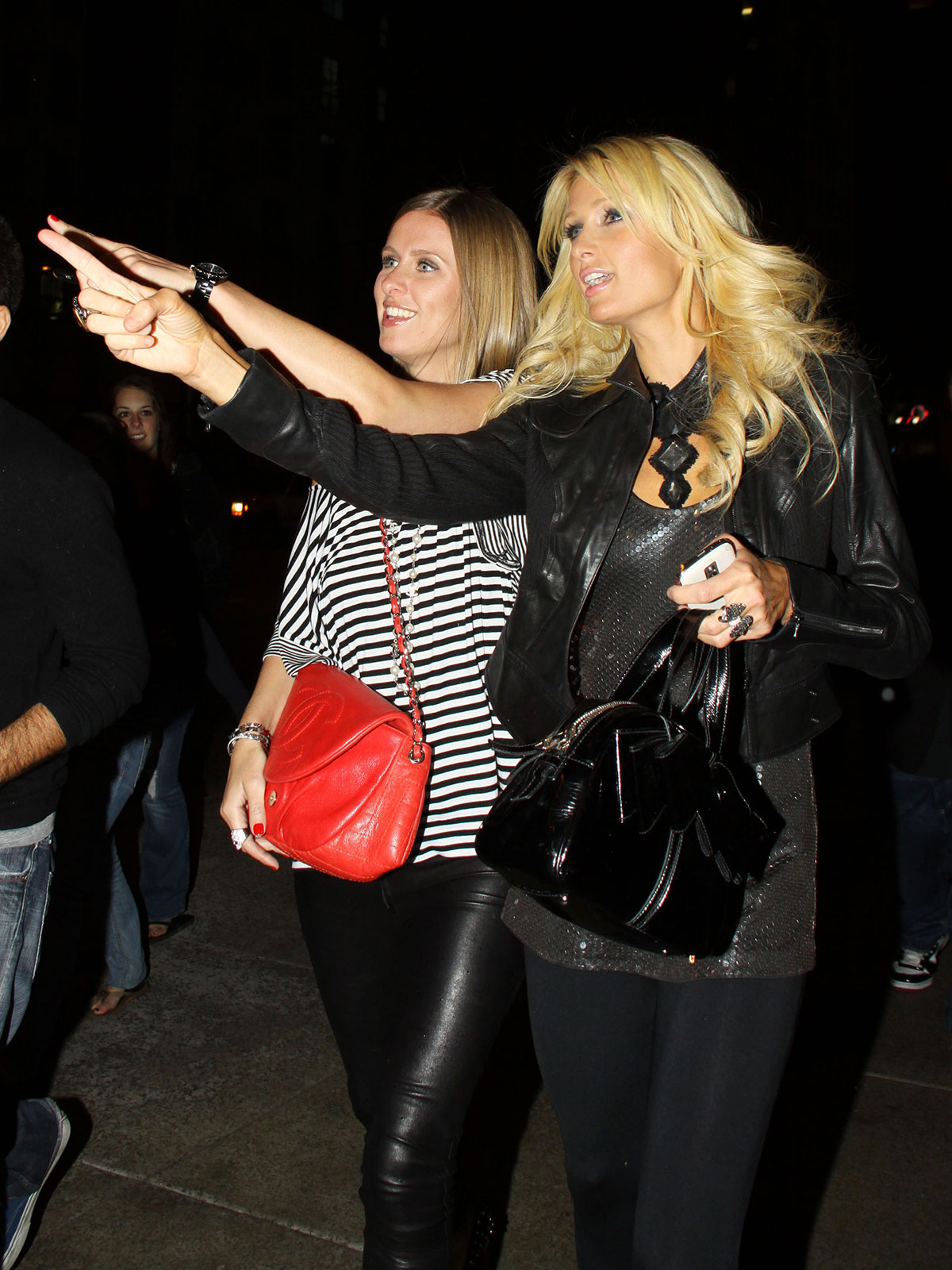 Paris and Nicky Hilton after Charity Event