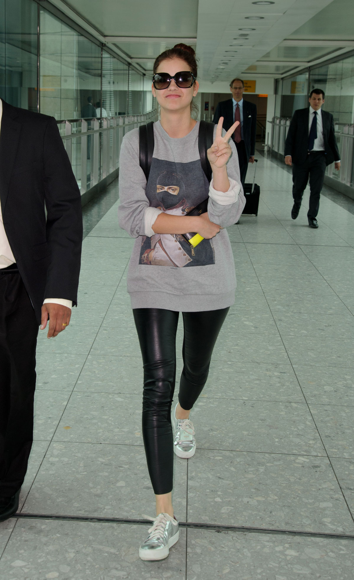 Barbara Palvin at Heathrow airport