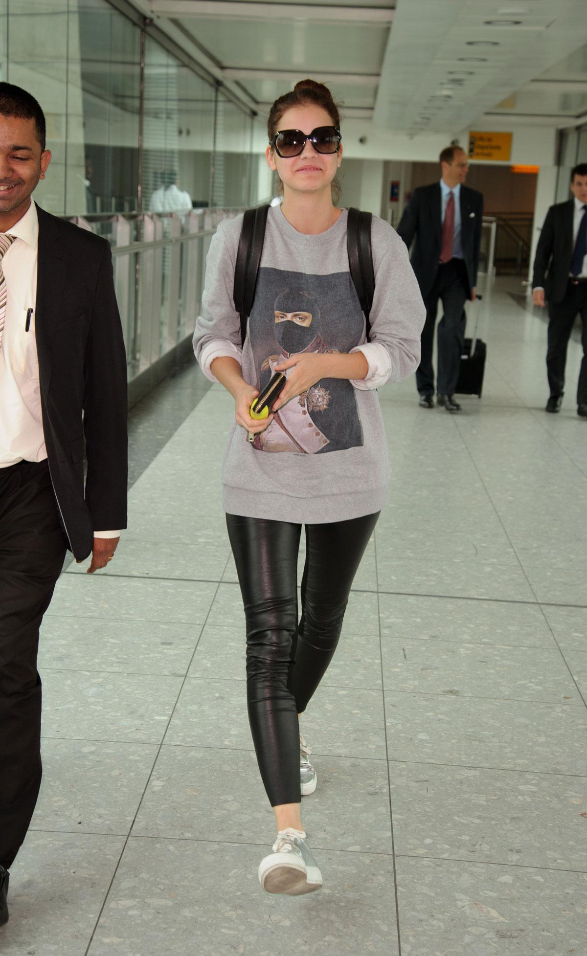 Barbara Palvin at Heathrow airport
