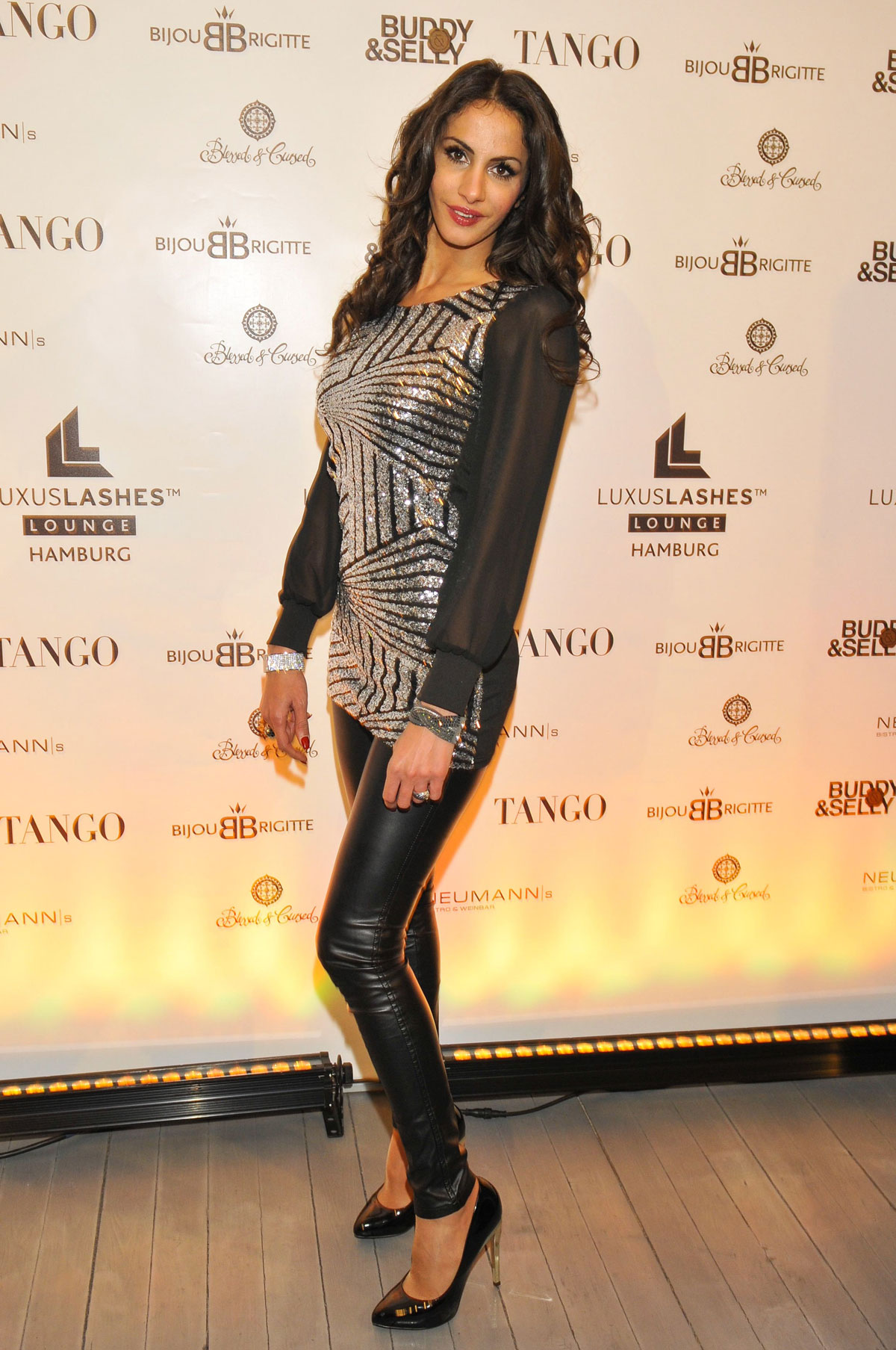 Janina Youssefian attends opening of the first LuxusLashes Lounge