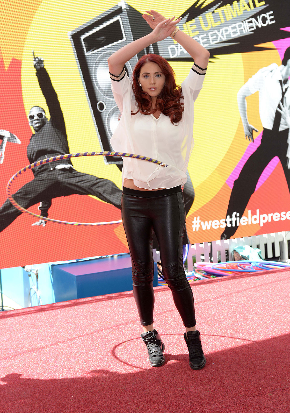 Amy Childs at Photocall to launch the Big Dance class