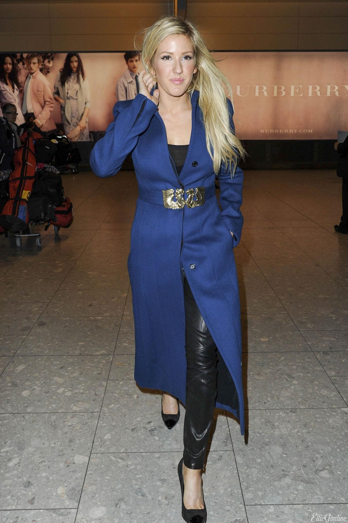 Ellie Goulding arriving at Heathrow Airport