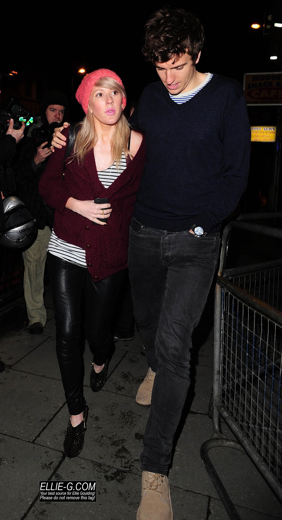 Ellie Goulding arrives at a Jessie J performance