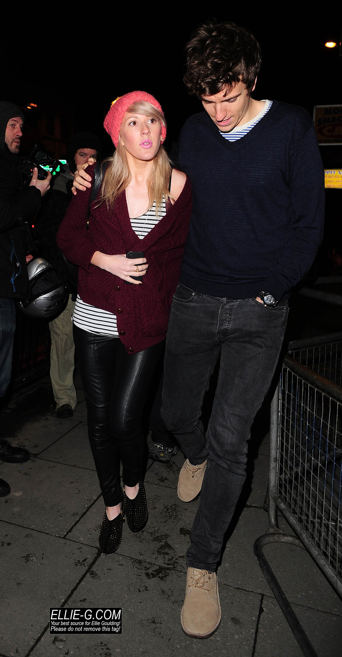 Ellie Goulding arrives at a Jessie J performance