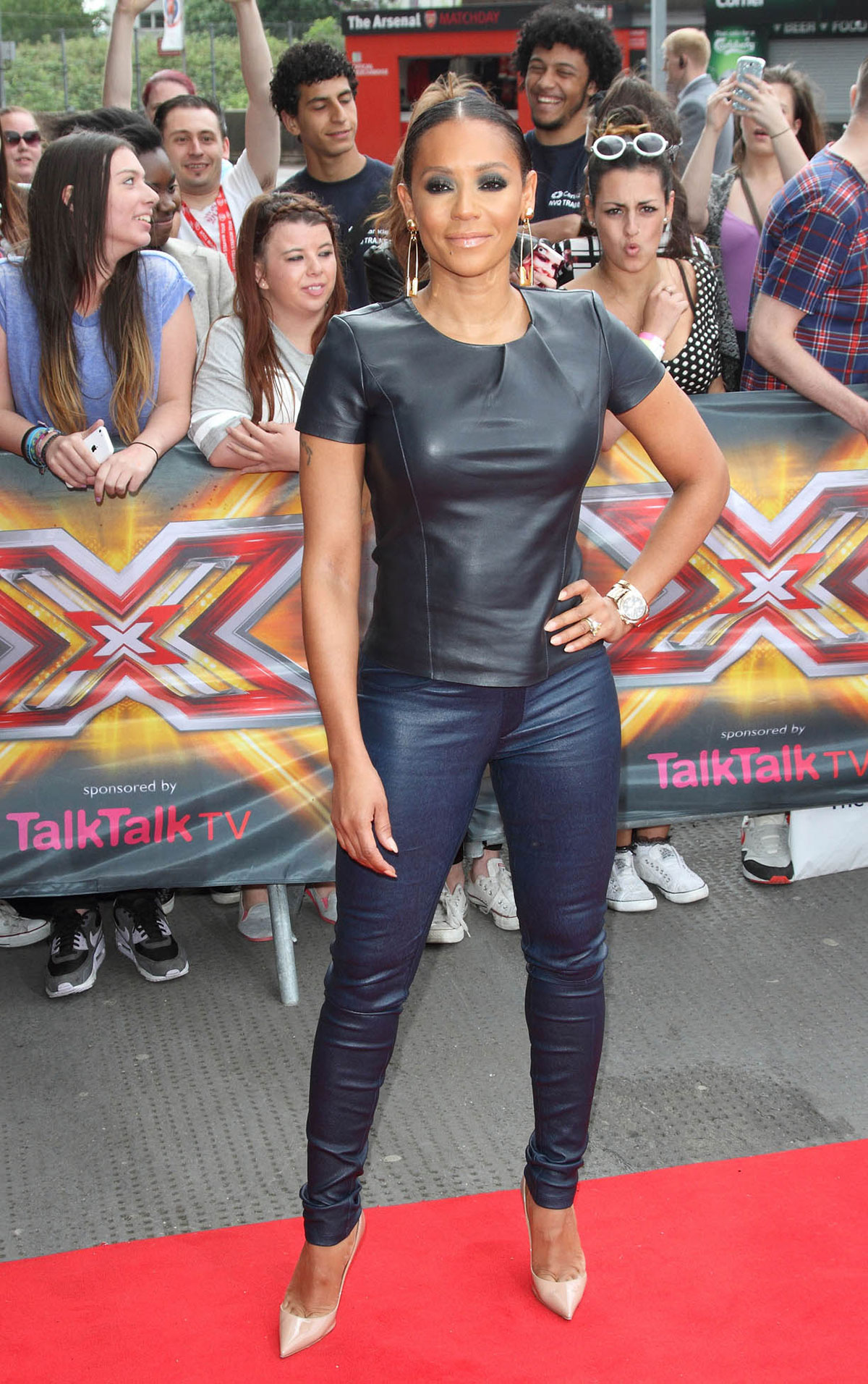 Melanie Brown at The X Factor auditions
