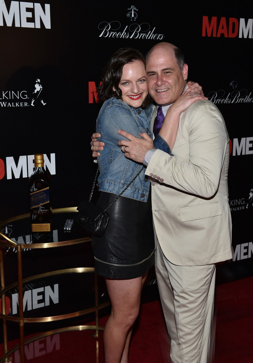 Elisabeth Moss stepping out for the Mad Men Cast and Crew Wrap Party
