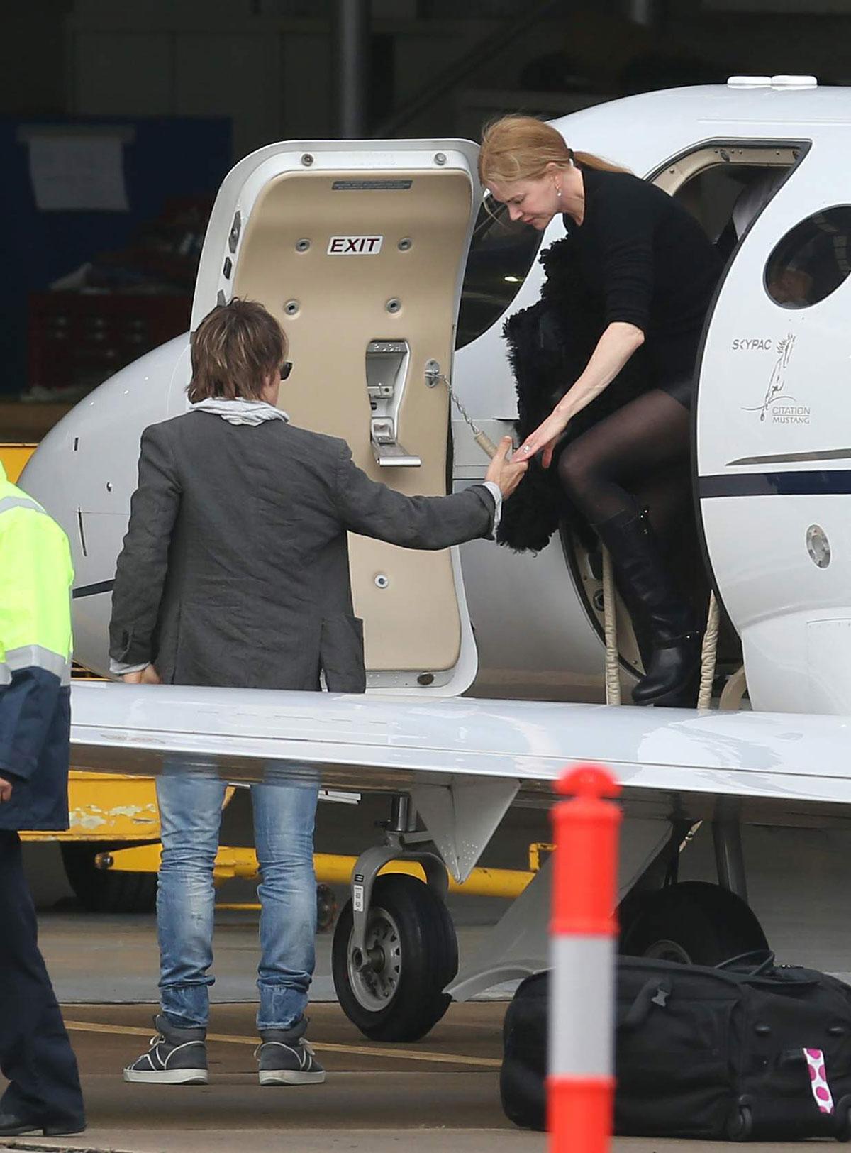 Nicole Kidman arrive into Melbourne