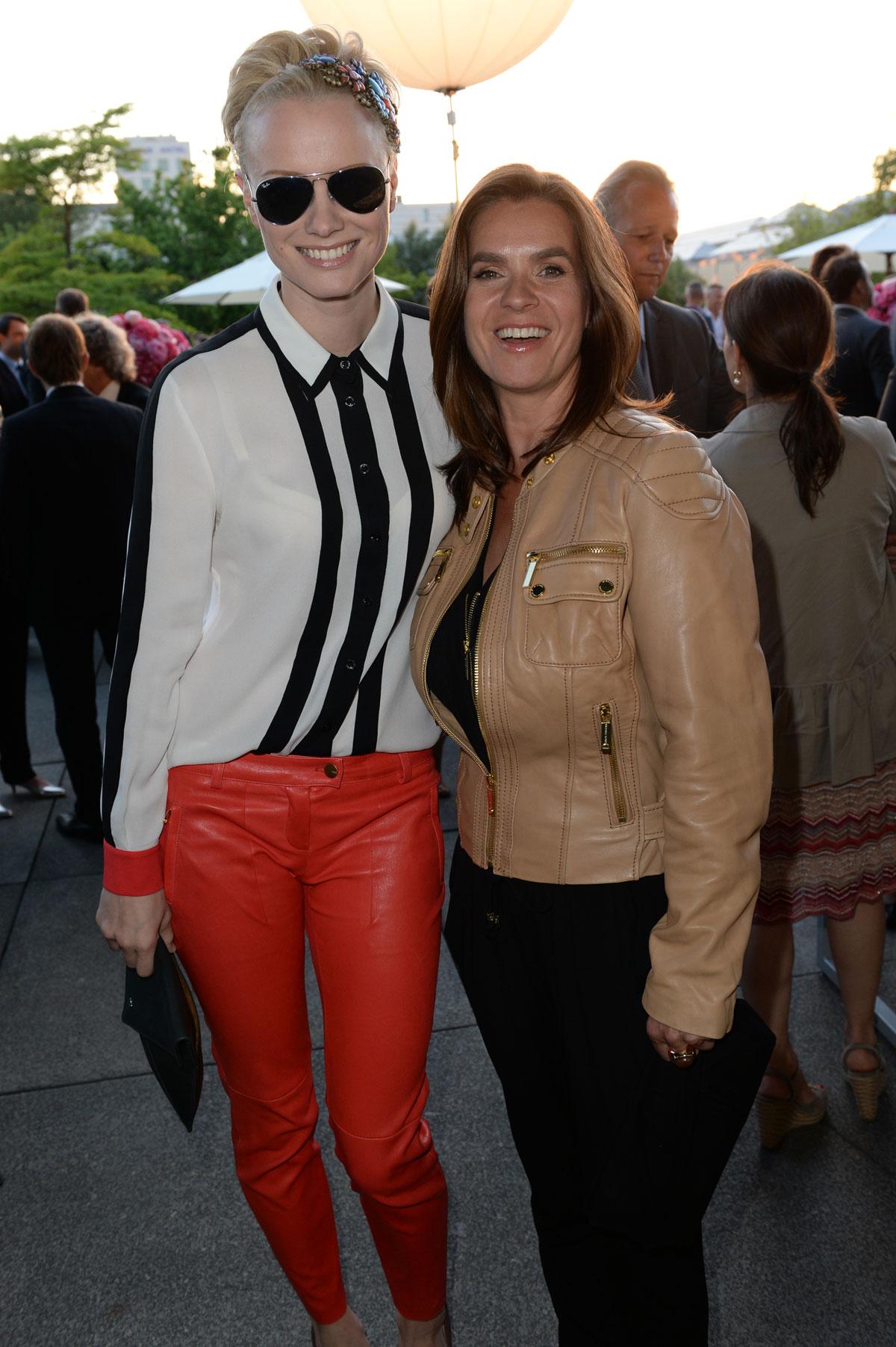 Franziska Knuppe attends Burda summer festival