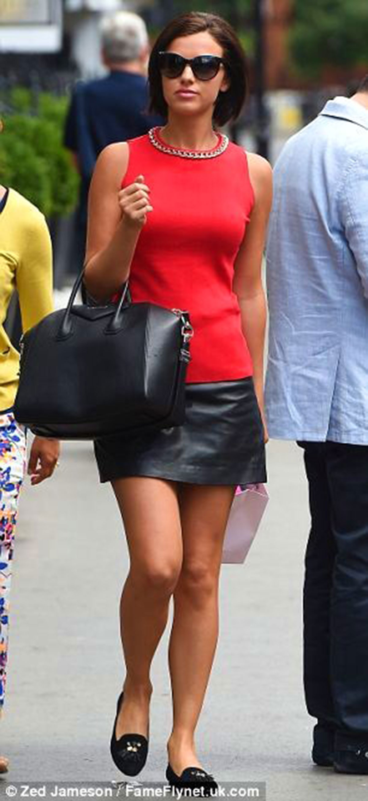 Lucy Mecklenburgh leaving The Tracy Giles salon