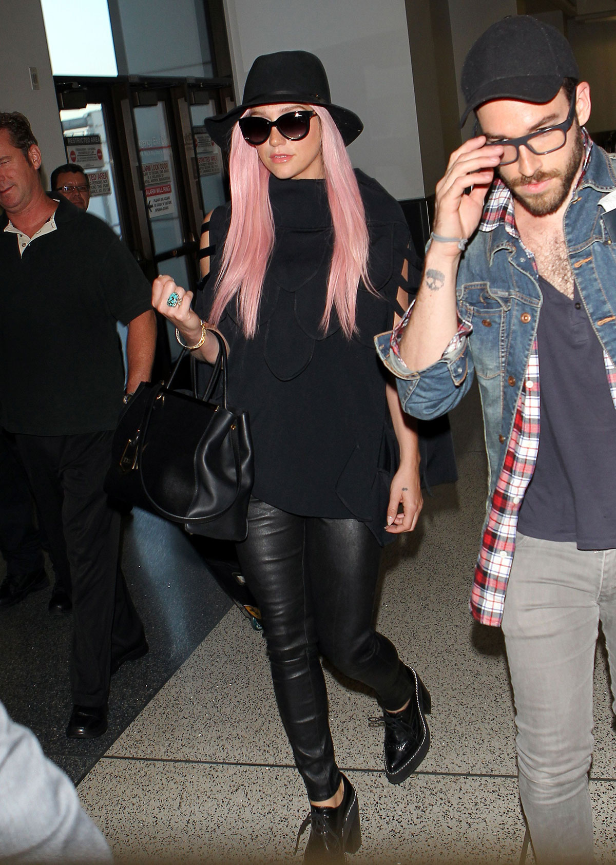 Kesha is seen at LAX