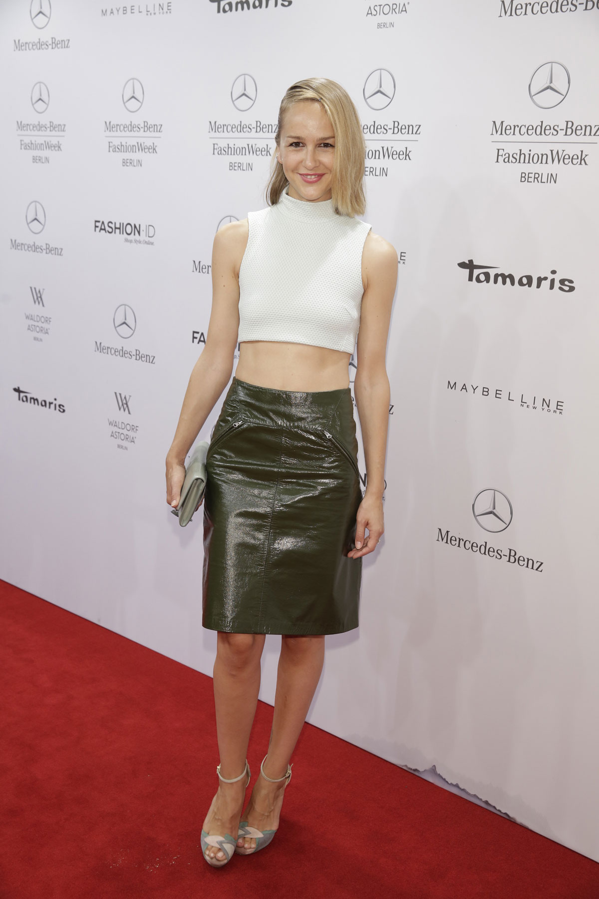 German celebs attend Mercedes-Benz Fashion Week Spring Summer 2015
