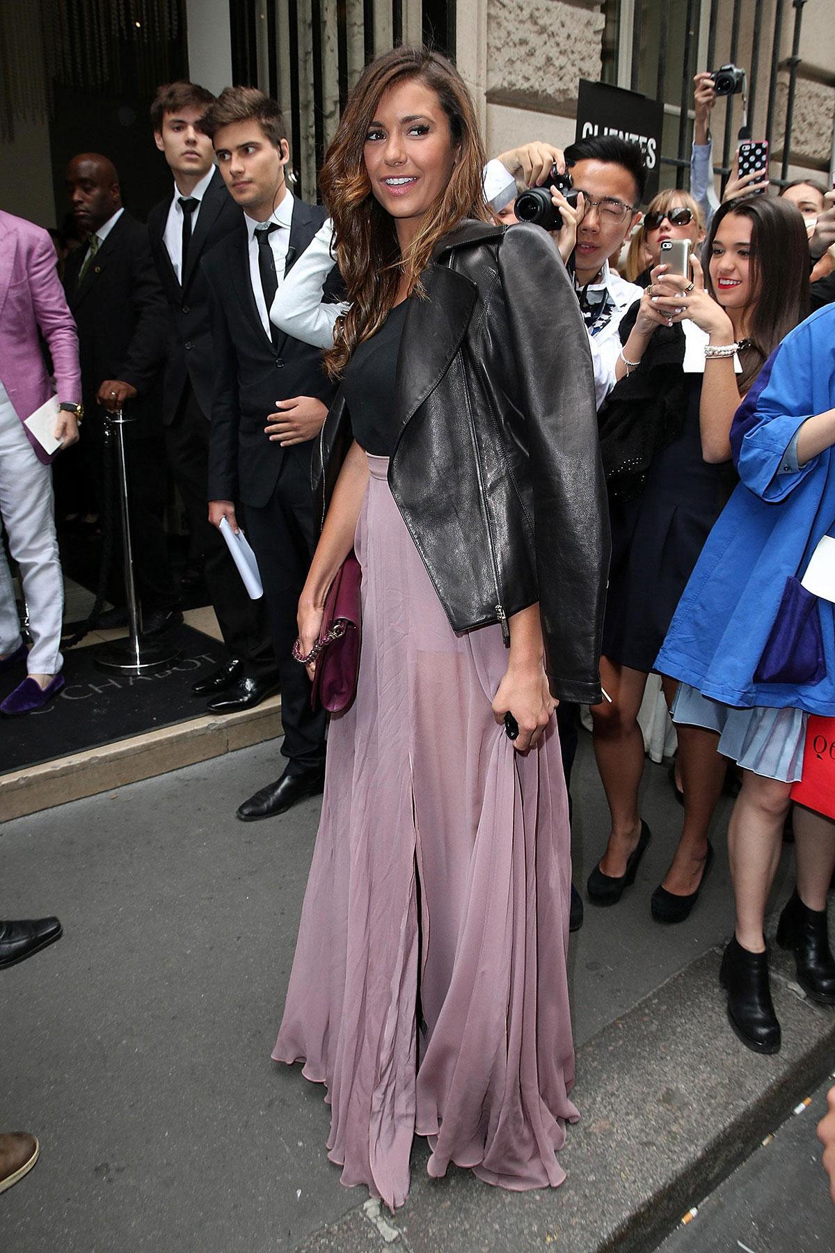 Nina Dobrev attends Elie Saab show