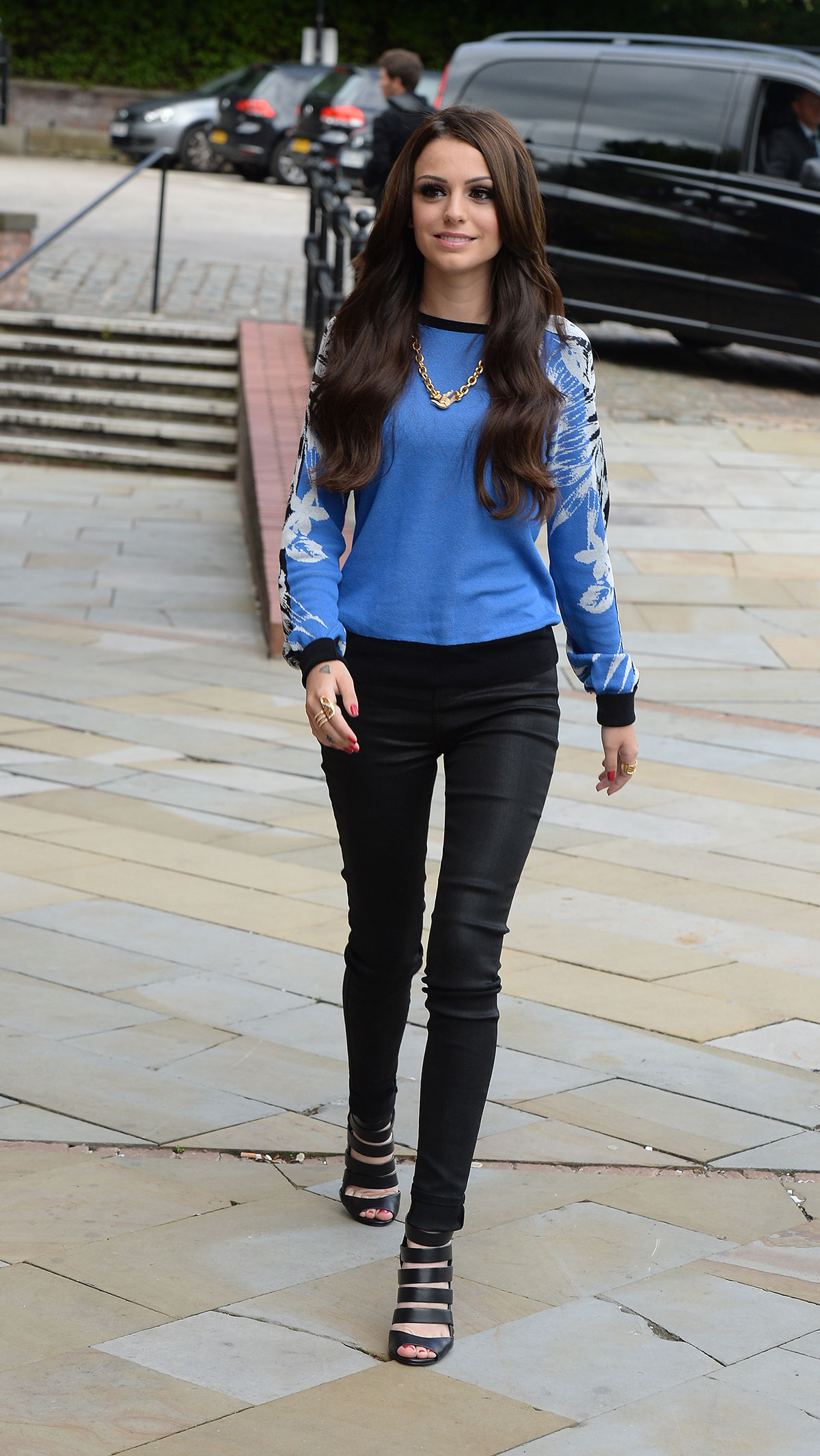 Cher Lloyd arrives at Key 103 Radio Station