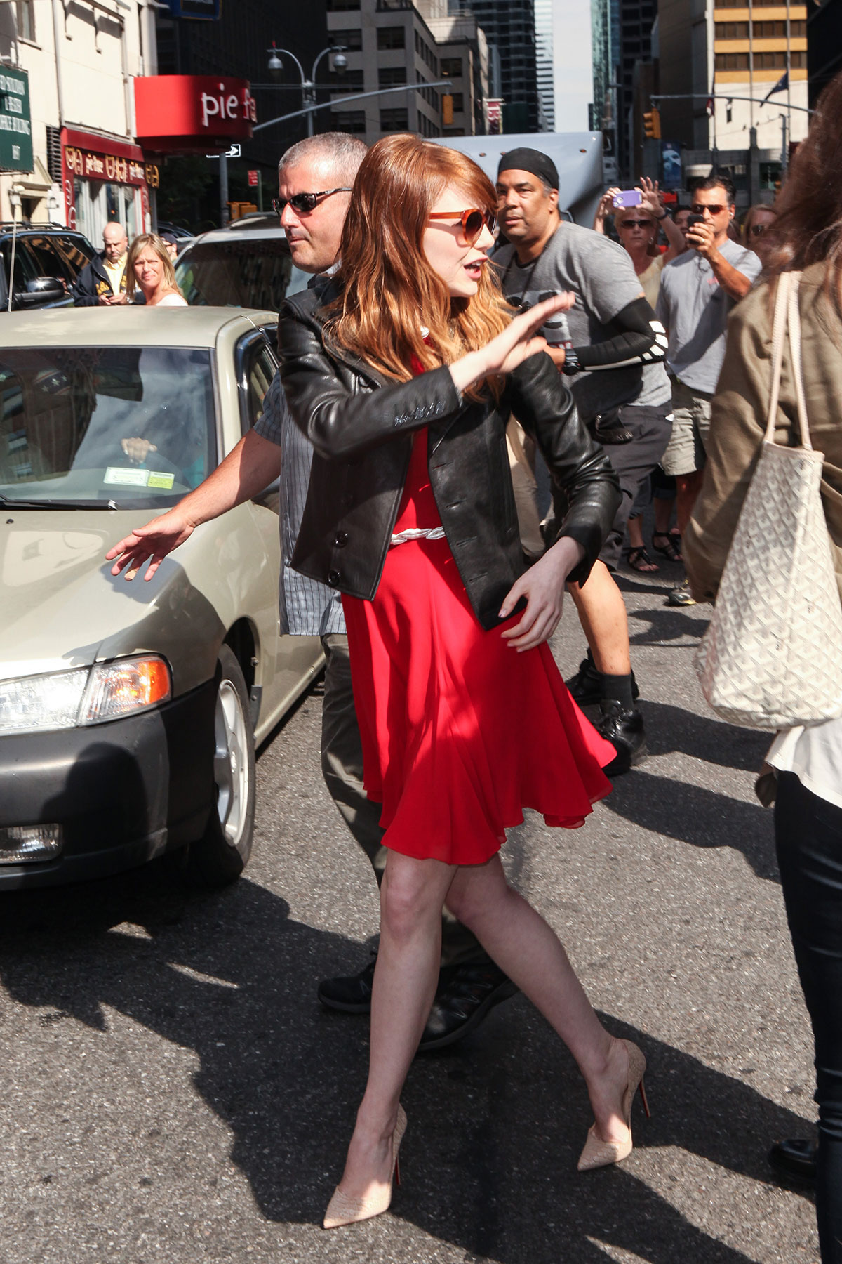 Emma Stone at Late Show with David Letterman
