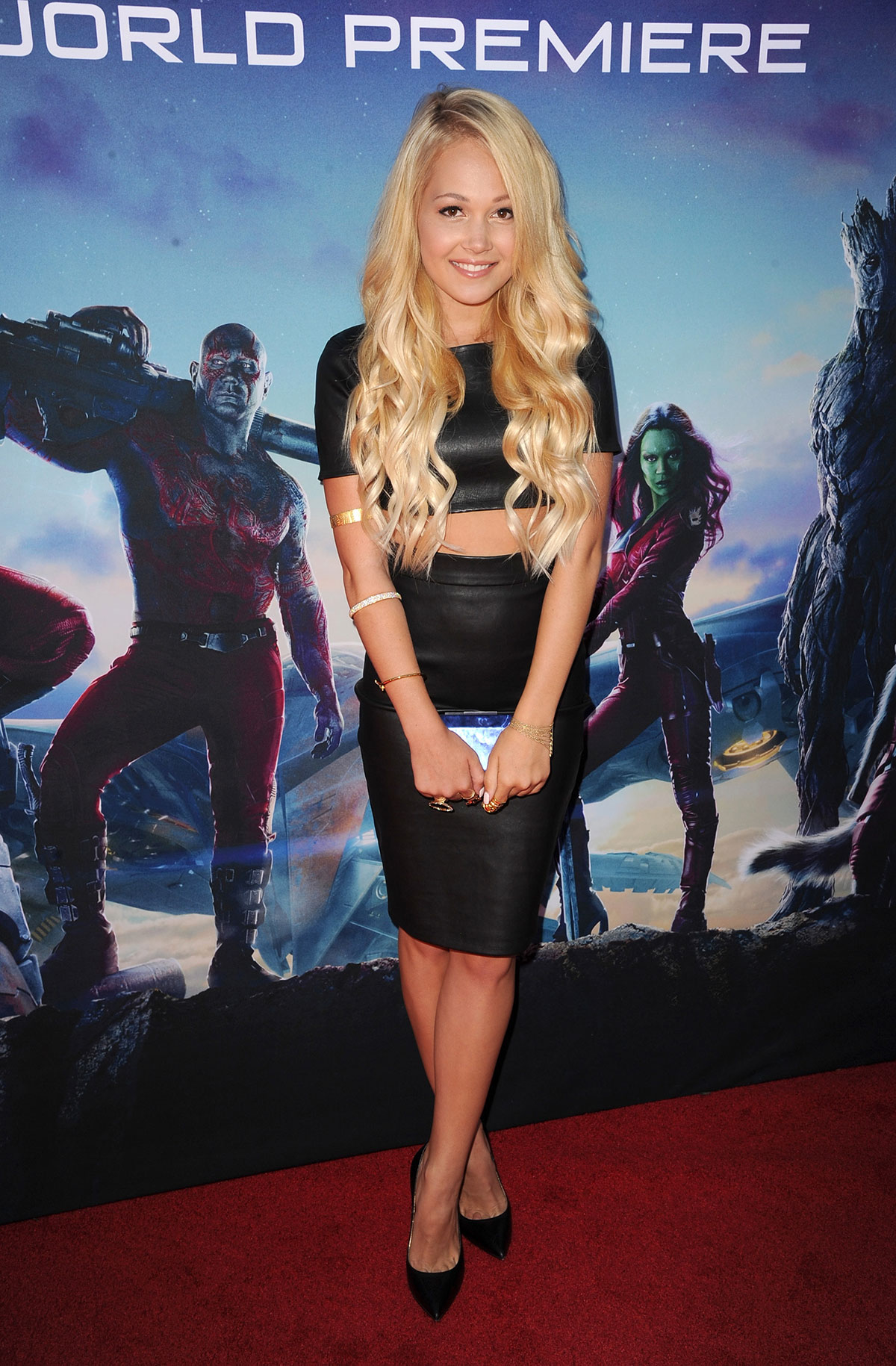 Kelli Berglund attends Guardians of the Galaxy Hollywood Premiere