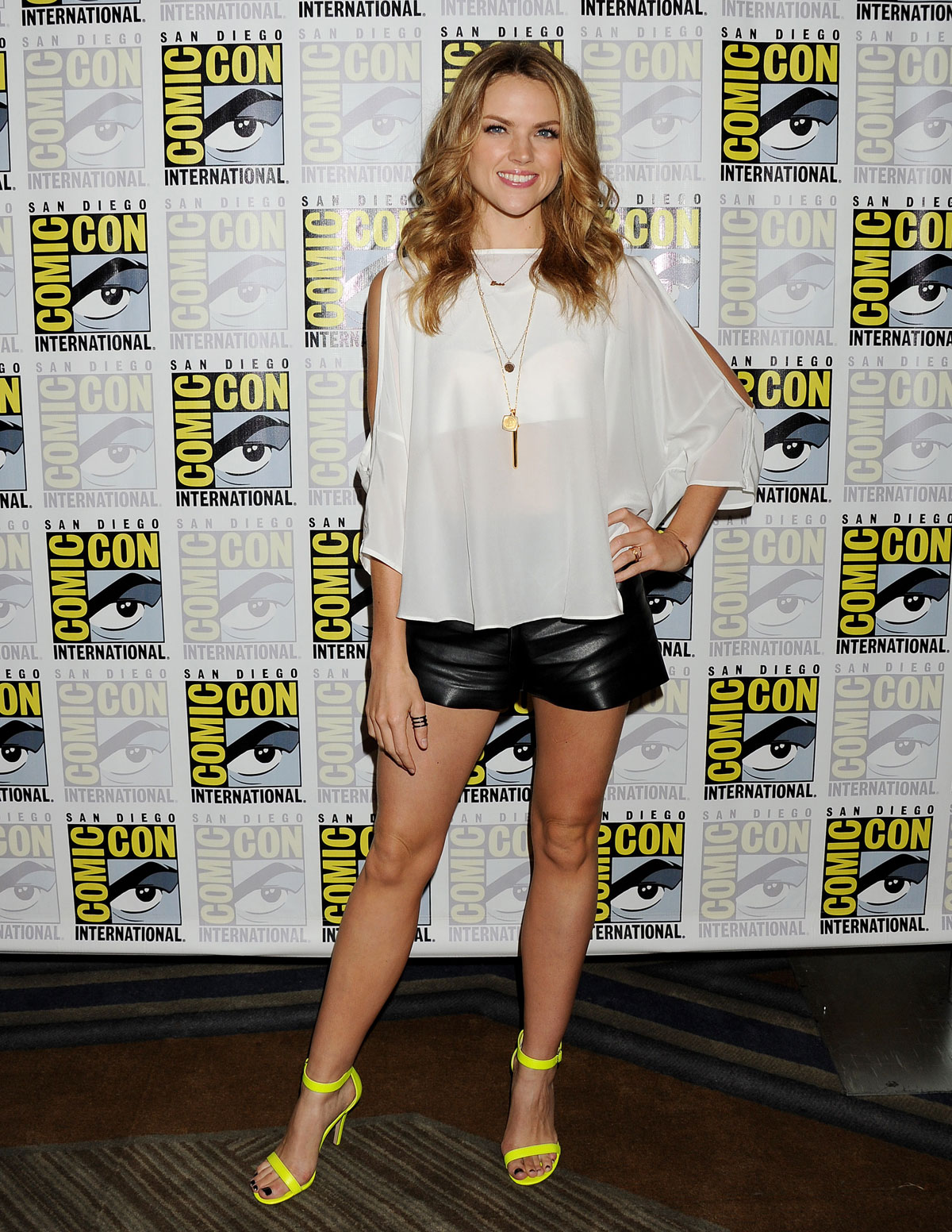 Erin Richards attends Gotham press line during Comic-Con
