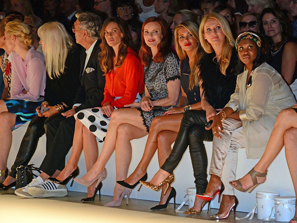 Frauke Ludowig attends Marc Cain Fashion Show Mercedes-Benz Fashion Week
