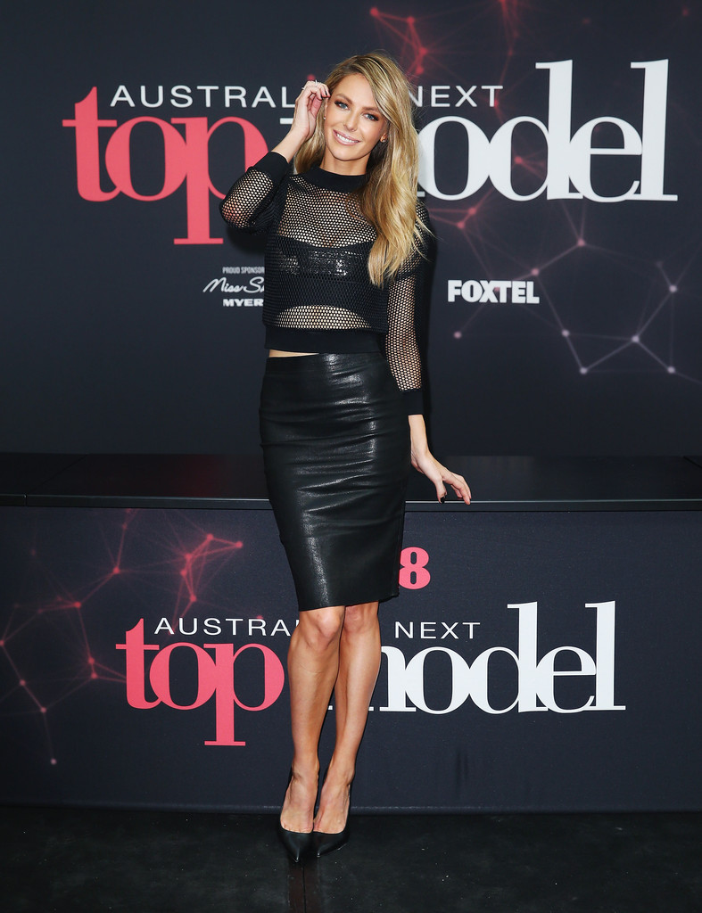 Jennifer Hawkins poses at Australia's Next Top Model auditions