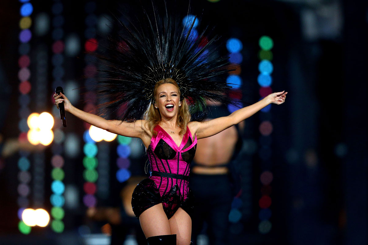 Kylie Minogue performs during Closing Ceremony for Glasgow 2014 Commonwealth Games