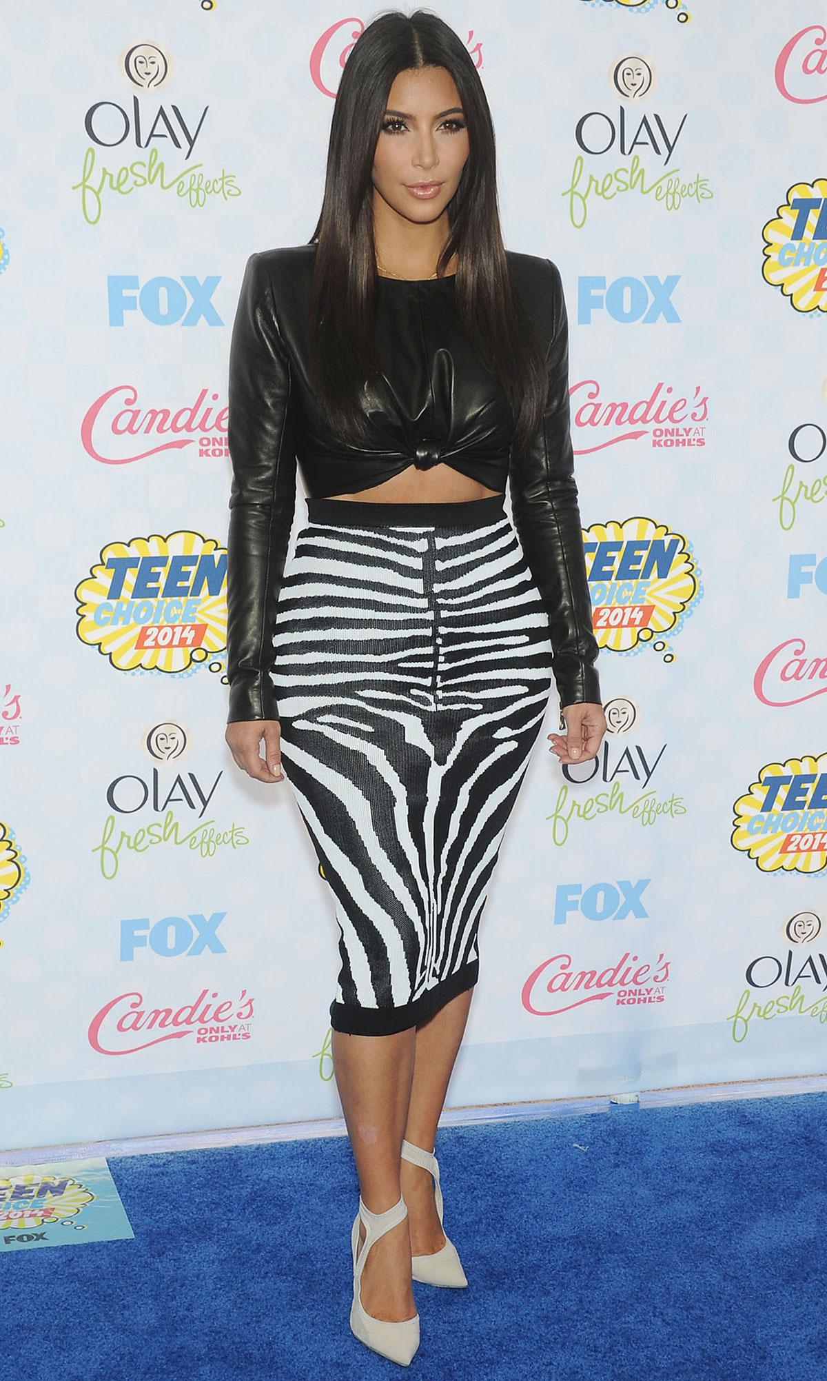 Kim Kardashian attends FOX 2014 Teen Choice Awards