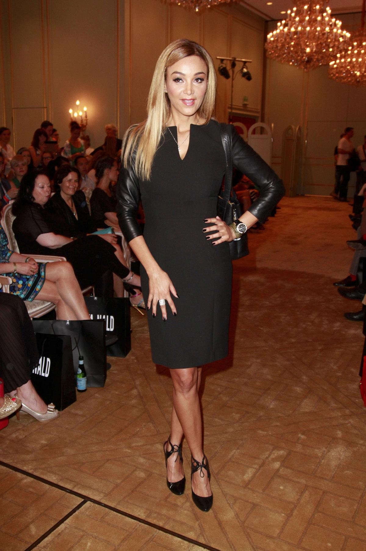 Verona Pooth attends Mercedes-Benz Fashion Week