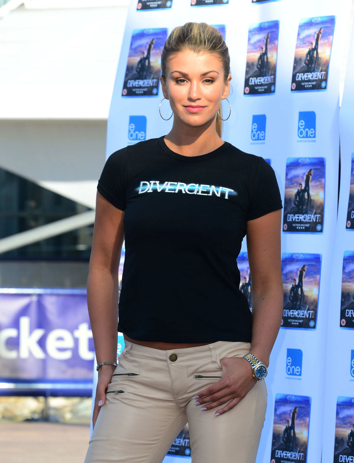 Amy Willerton attends Divergent DVD Launch Photocall