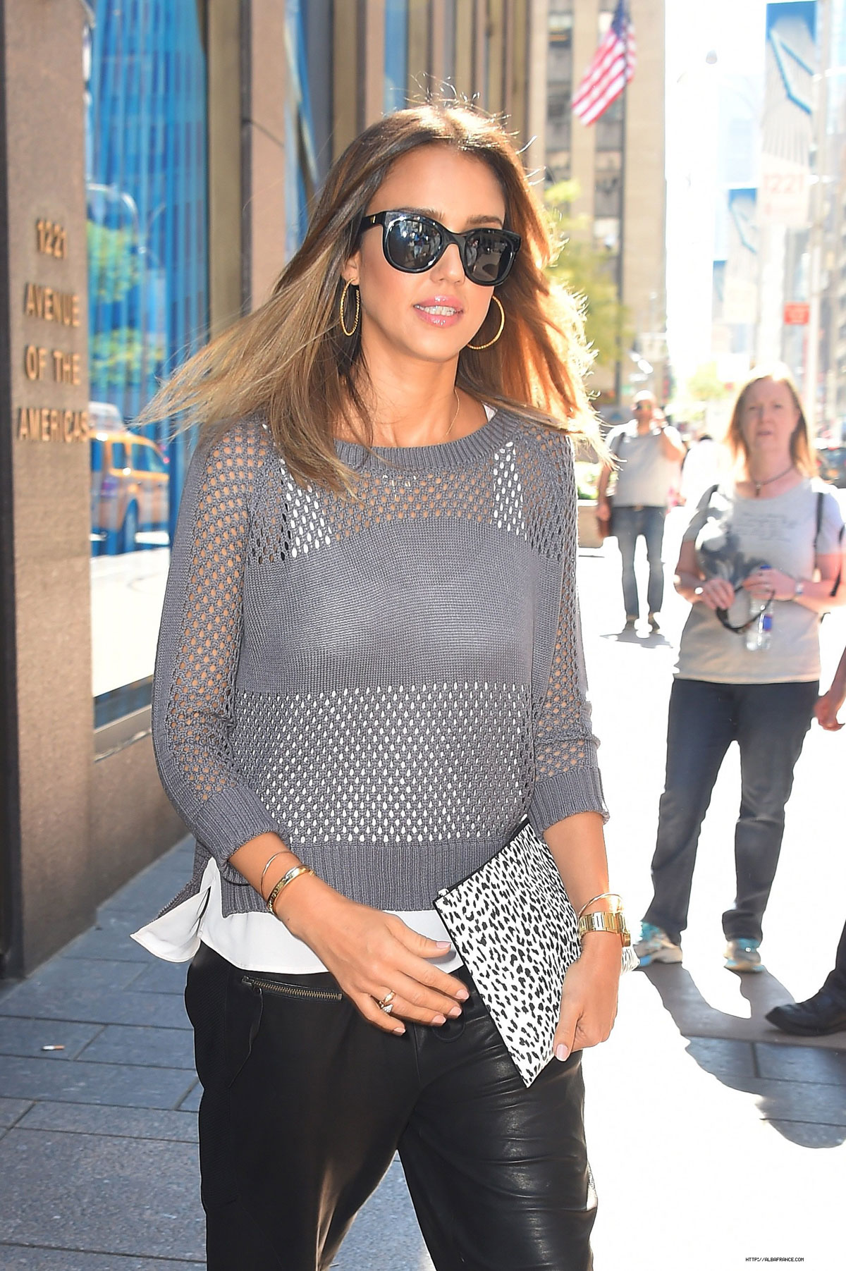 Jessica Alba arriving at SiriusXM Studio in NYC