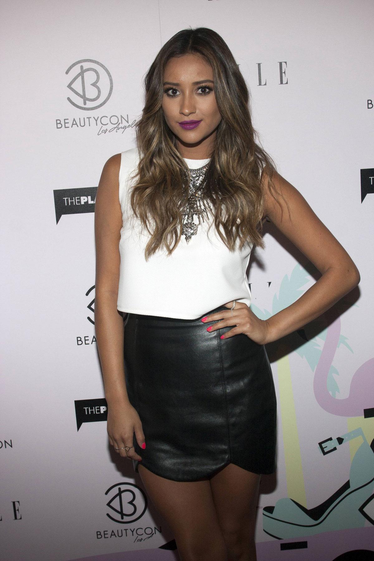 Shay Mitchell attends 2014 BeautyCon