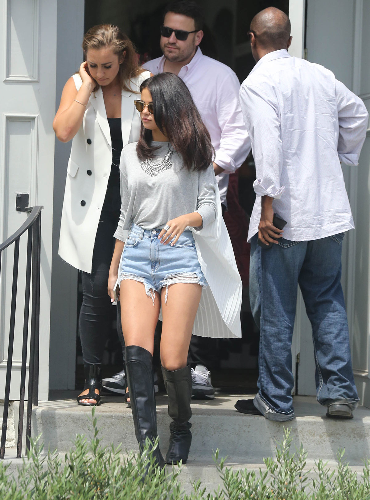 Selena Gomez meeting friends for lunch at Gracias Madre